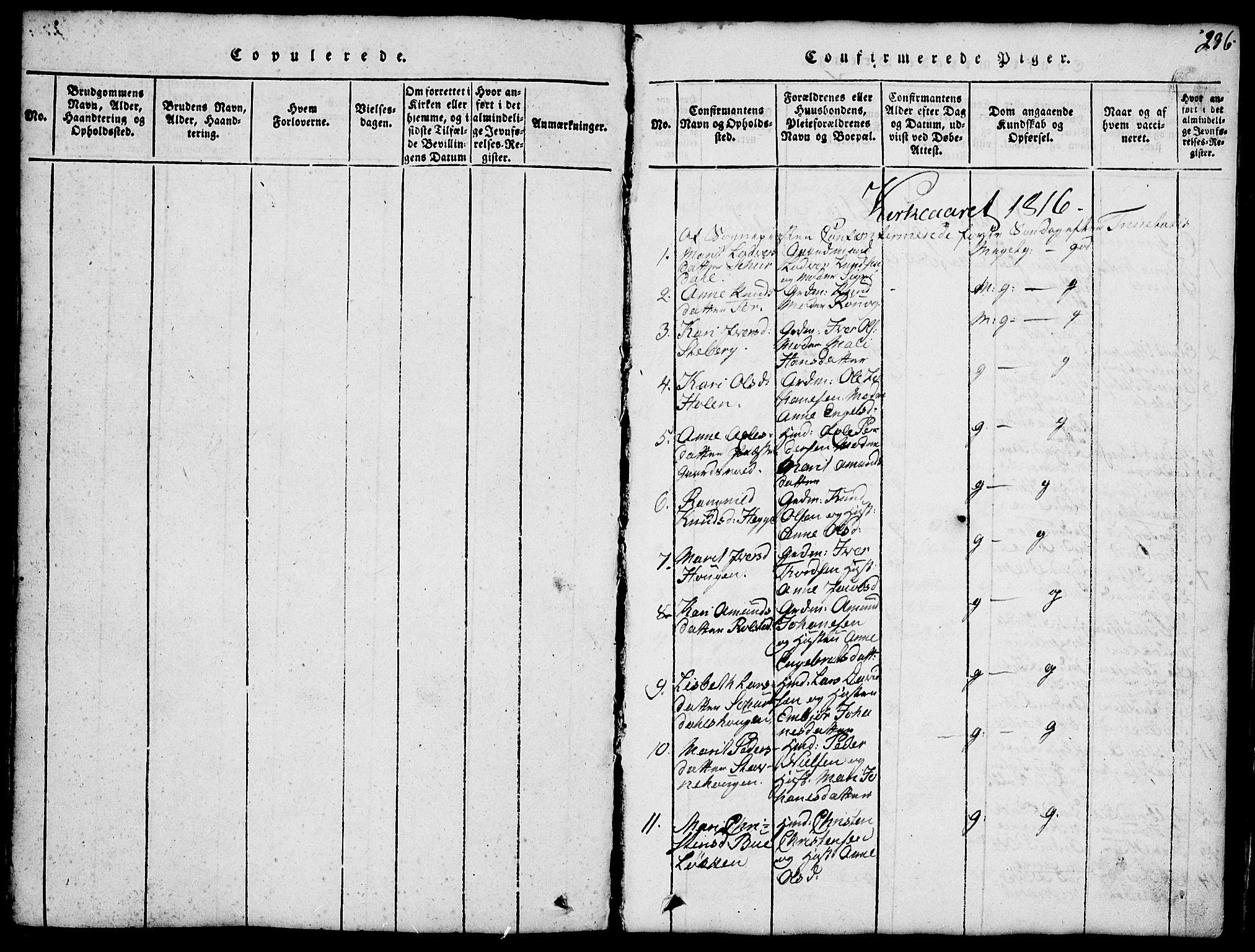 SAH, Fron prestekontor, H/Ha/Hab/L0001: Klokkerbok nr. 1, 1816-1843, s. 236