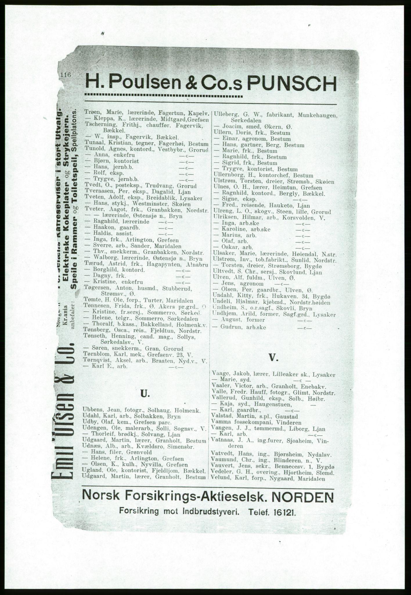 PUBL, Aker adressebok/adressekalender, 1916-1917, s. 116