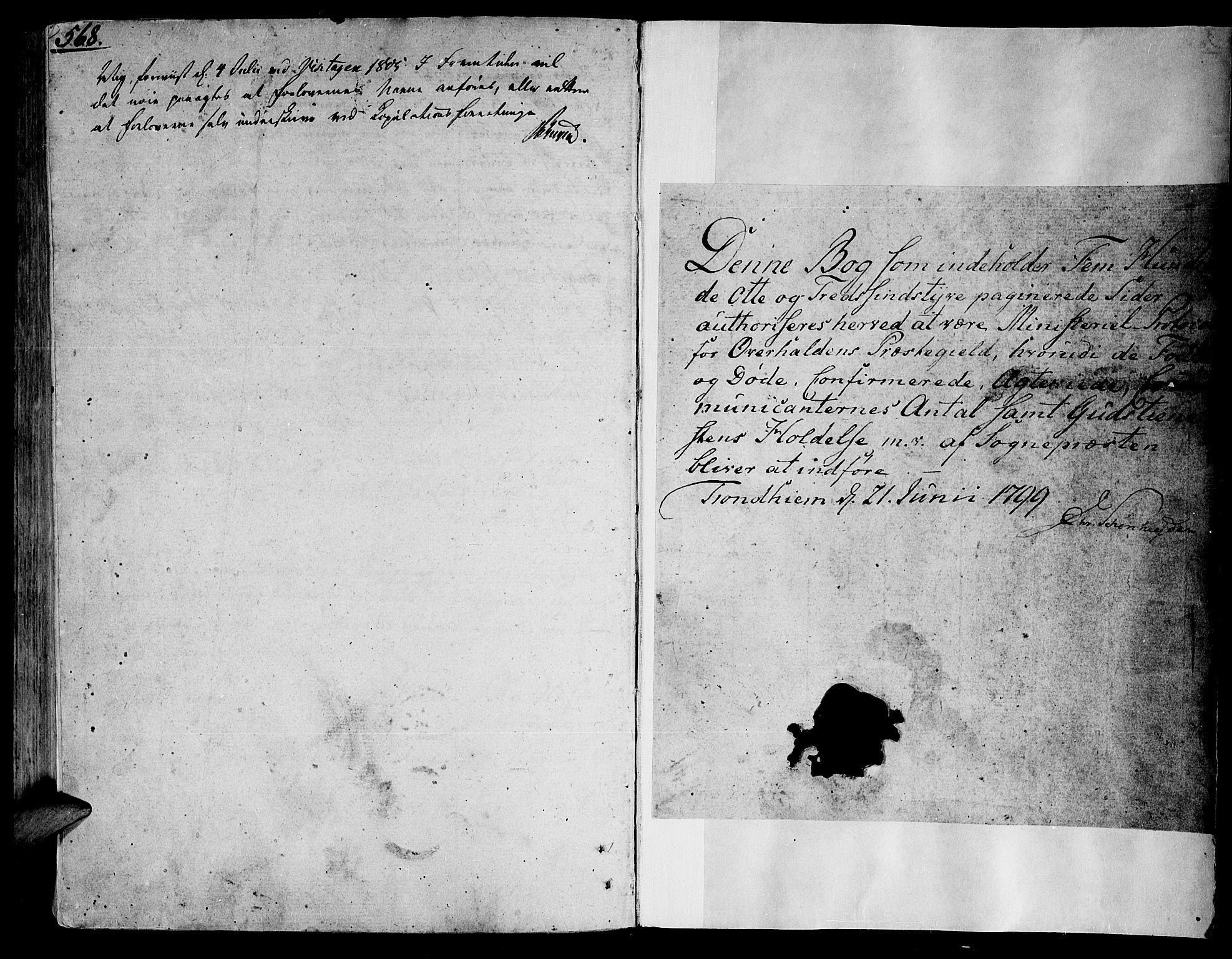 SAT, Ministerialprotokoller, klokkerbøker og fødselsregistre - Nord-Trøndelag, 764/L0545: Ministerialbok nr. 764A05, 1799-1816