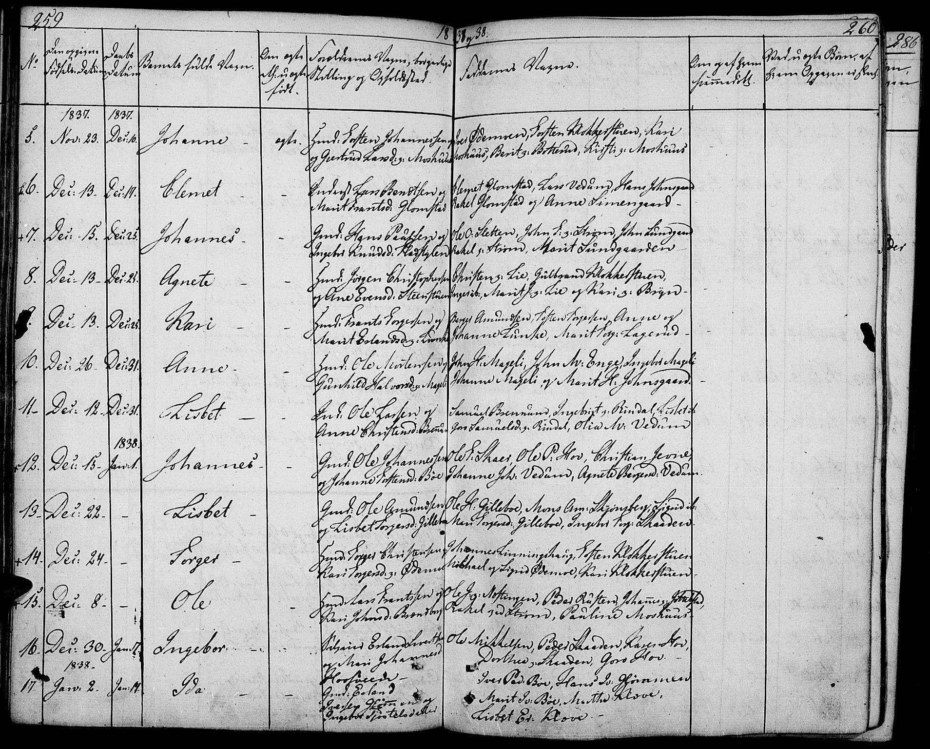 SAH, Øyer prestekontor, Ministerialbok nr. 4, 1824-1841, s. 259-260
