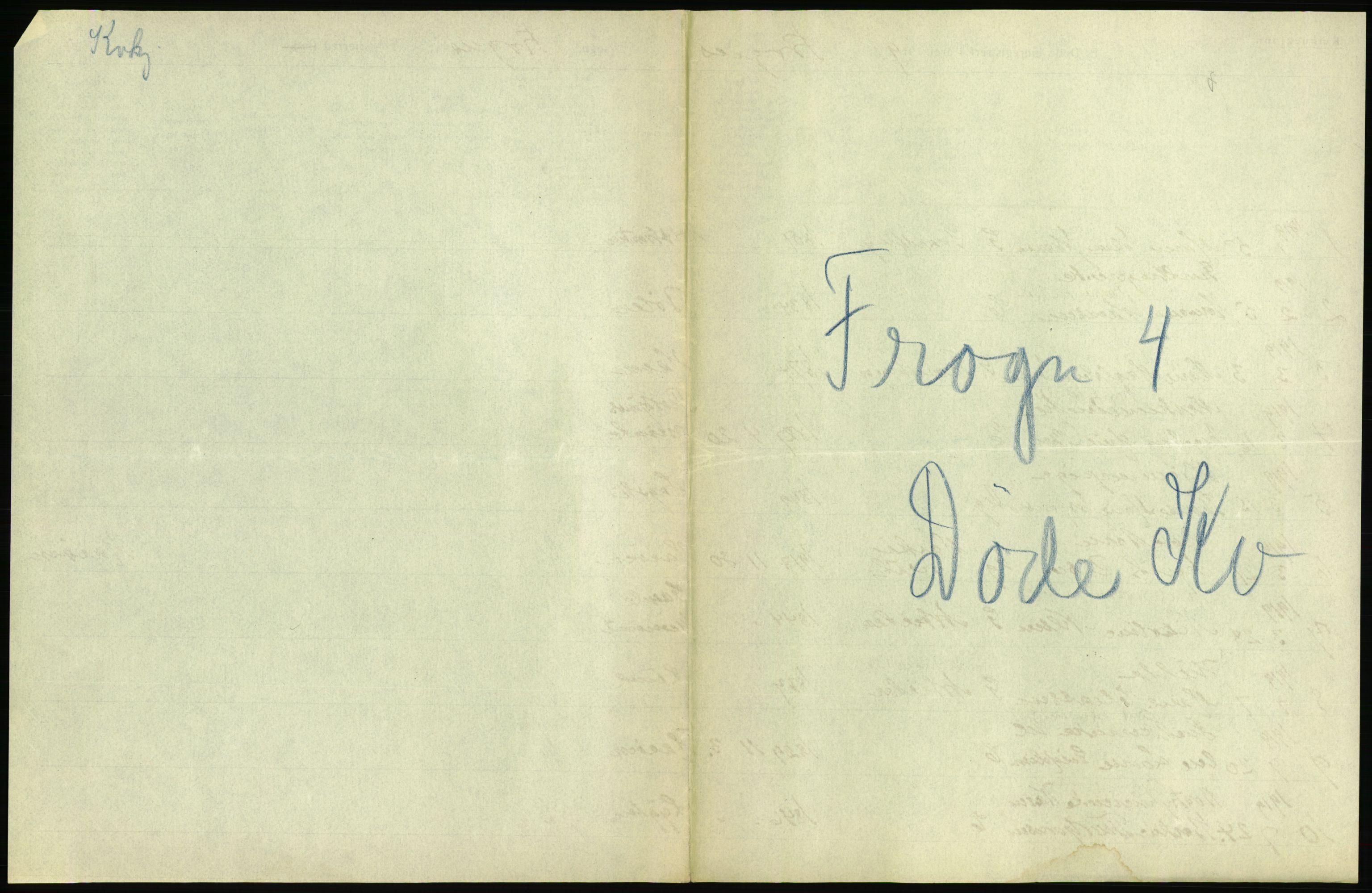 RA, Statistisk sentralbyrå, Sosiodemografiske emner, Befolkning, D/Df/Dfb/Dfbi/L0006: Akershus fylke: Døde. Bygder og byer., 1919, s. 1