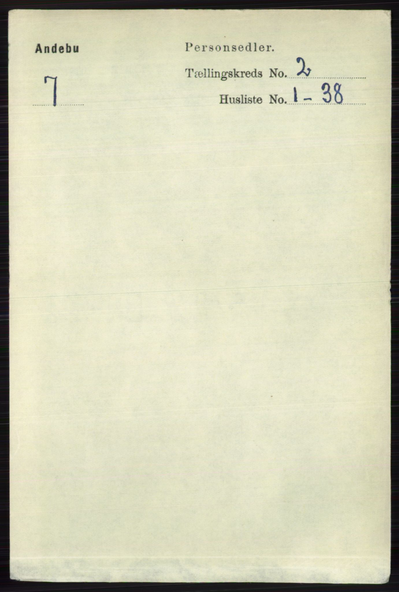 RA, Folketelling 1891 for 0719 Andebu herred, 1891, s. 899