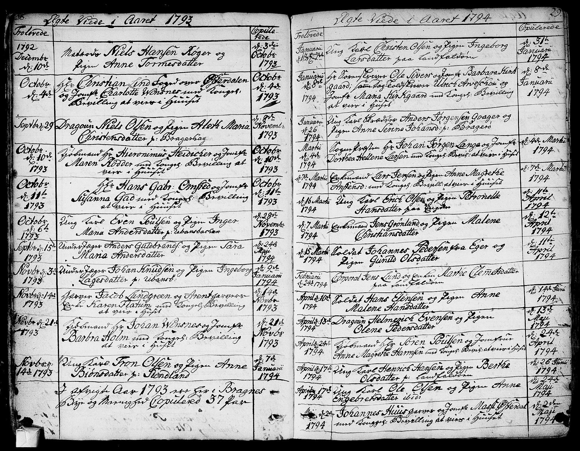 SAKO, Bragernes kirkebøker, F/Fa/L0006a: Ministerialbok nr. I 6, 1782-1814, s. 28-29