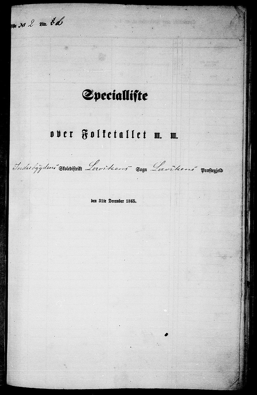 RA, Folketelling 1865 for 1718P Leksvik prestegjeld, 1865, s. 45
