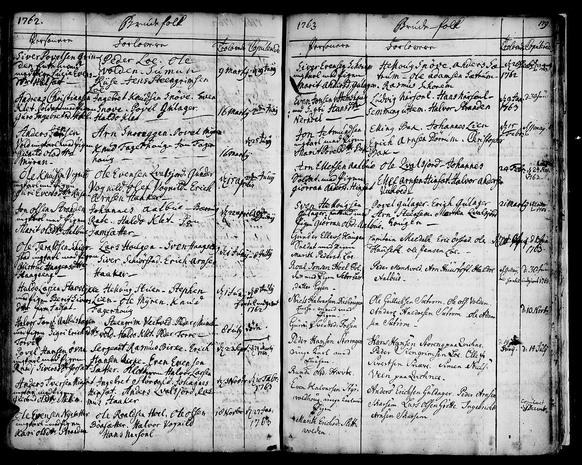 SAT, Ministerialprotokoller, klokkerbøker og fødselsregistre - Sør-Trøndelag, 678/L0891: Ministerialbok nr. 678A01, 1739-1780, s. 179