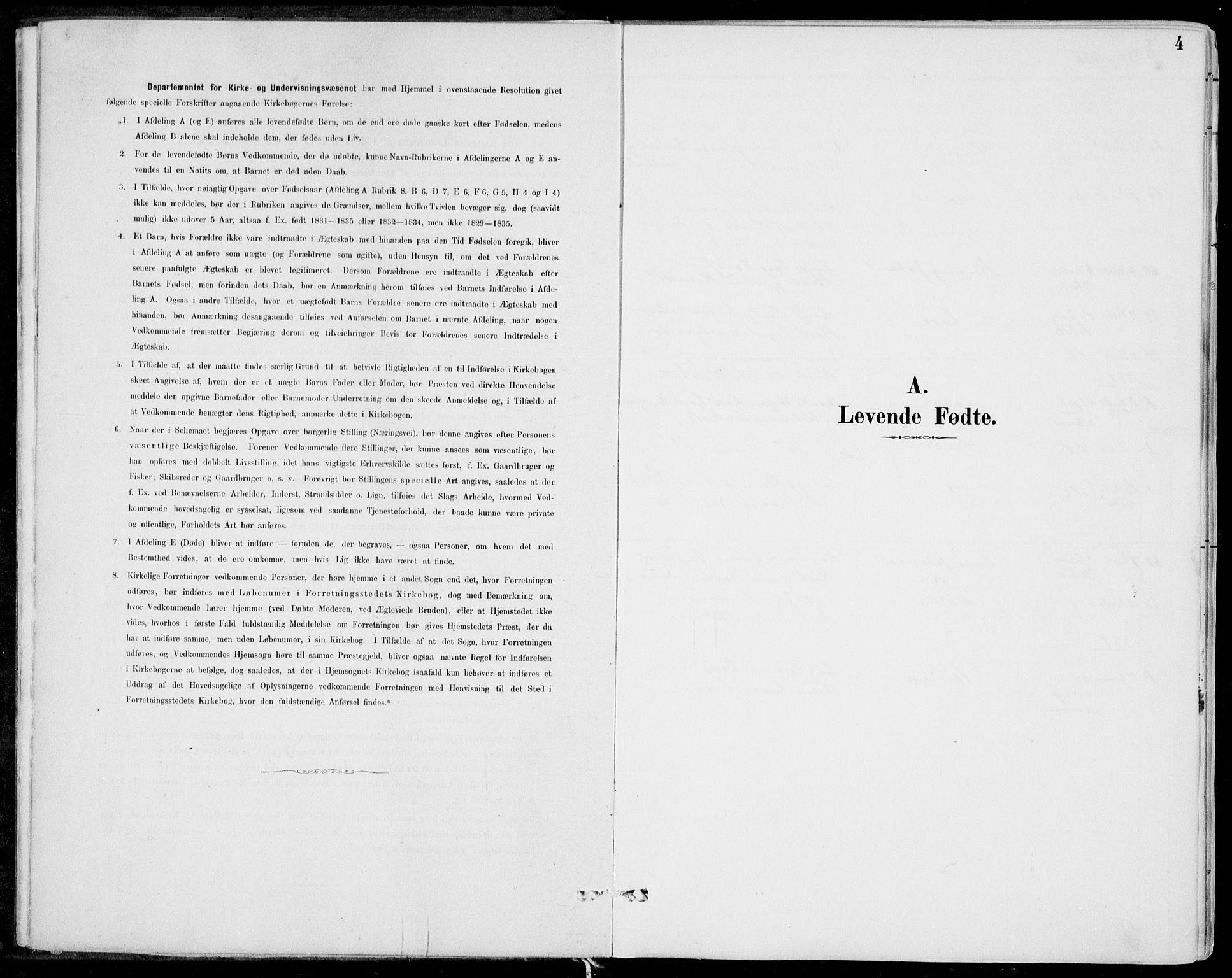 SAB, Strandebarm Sokneprestembete, H/Haa: Ministerialbok nr. E  1, 1886-1908, s. 4