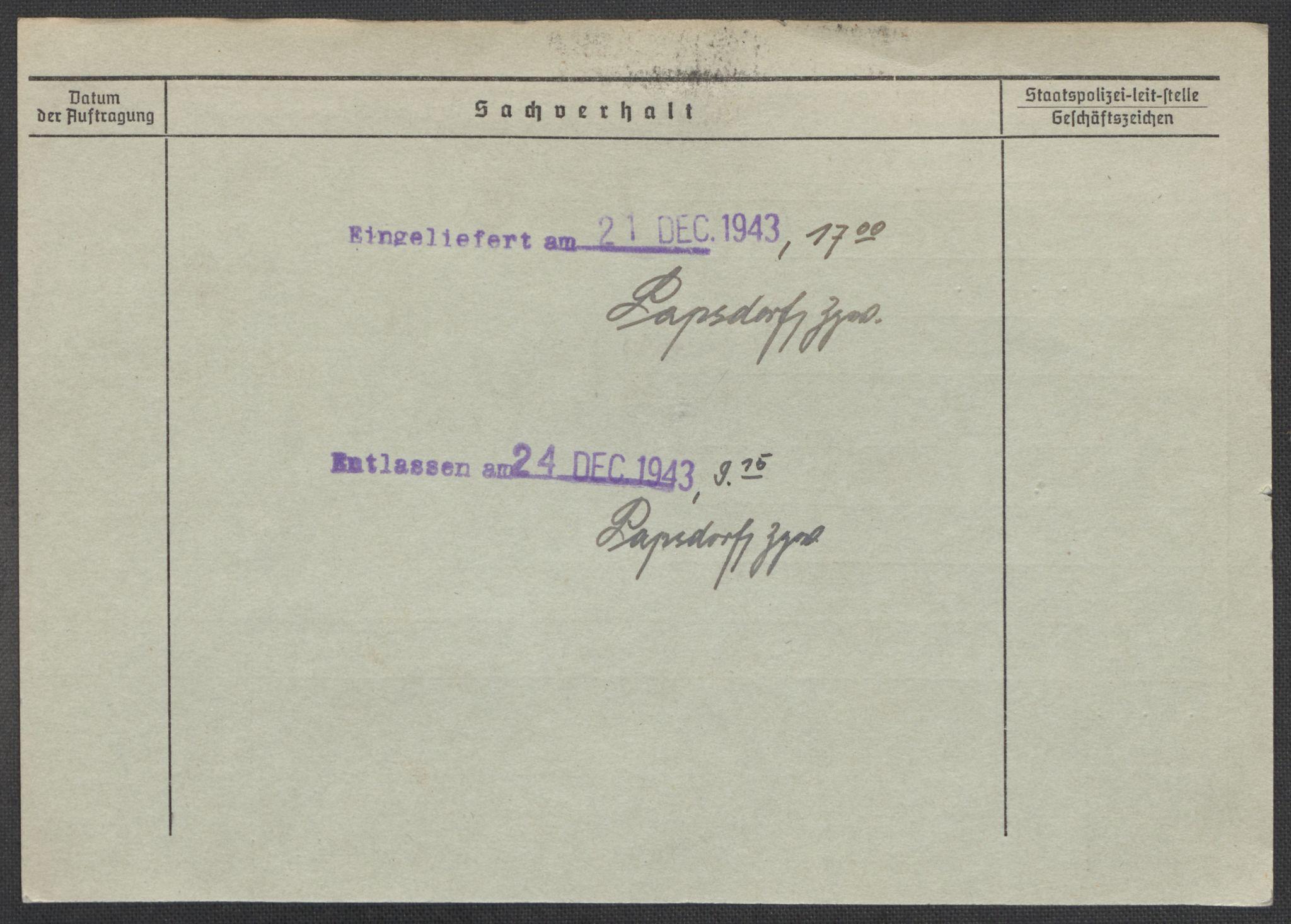 RA, Befehlshaber der Sicherheitspolizei und des SD, E/Ea/Eaa/L0005: Register over norske fanger i Møllergata 19: Hø-Kj, 1940-1945, s. 586