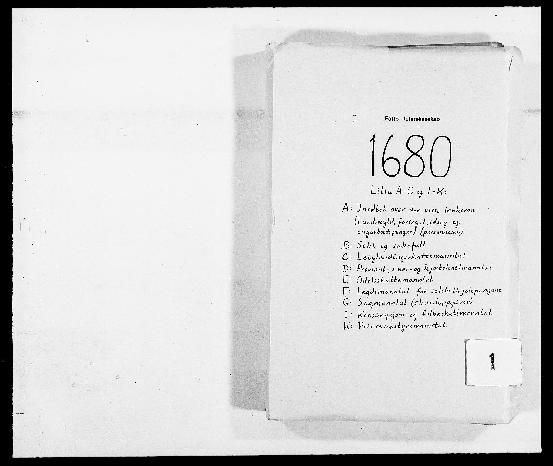 RA, Rentekammeret inntil 1814, Reviderte regnskaper, Fogderegnskap, R09/L0429: Fogderegnskap Follo, 1680-1681, s. 1