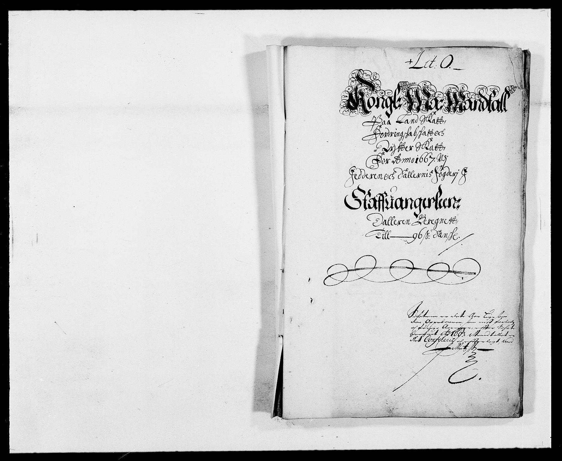 RA, Rentekammeret inntil 1814, Reviderte regnskaper, Fogderegnskap, R46/L2710: Fogderegnskap Jæren og Dalane, 1667, s. 50
