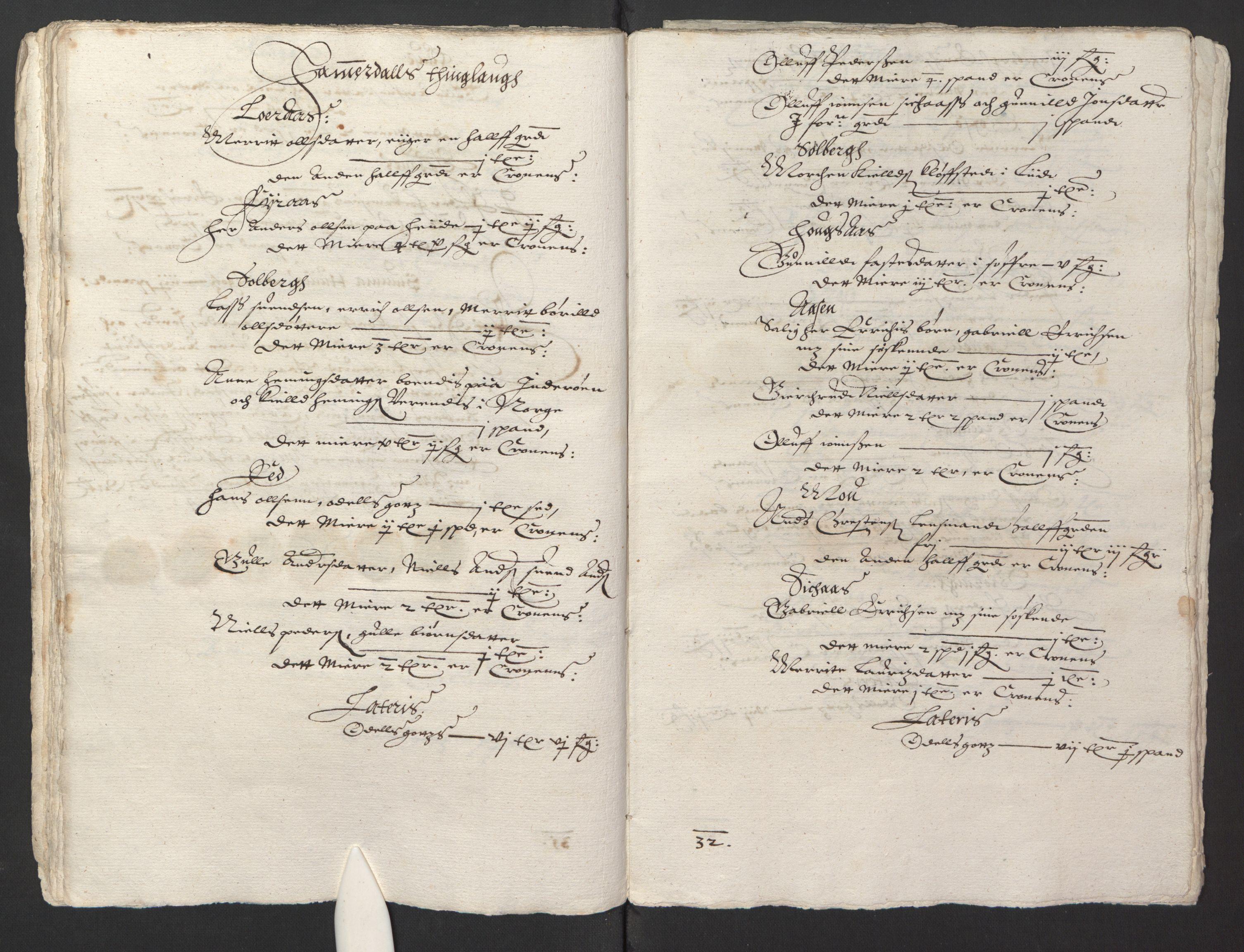 RA, Stattholderembetet 1572-1771, Ek/L0013: Jordebøker til utlikning av rosstjeneste 1624-1626:, 1624-1625, s. 127