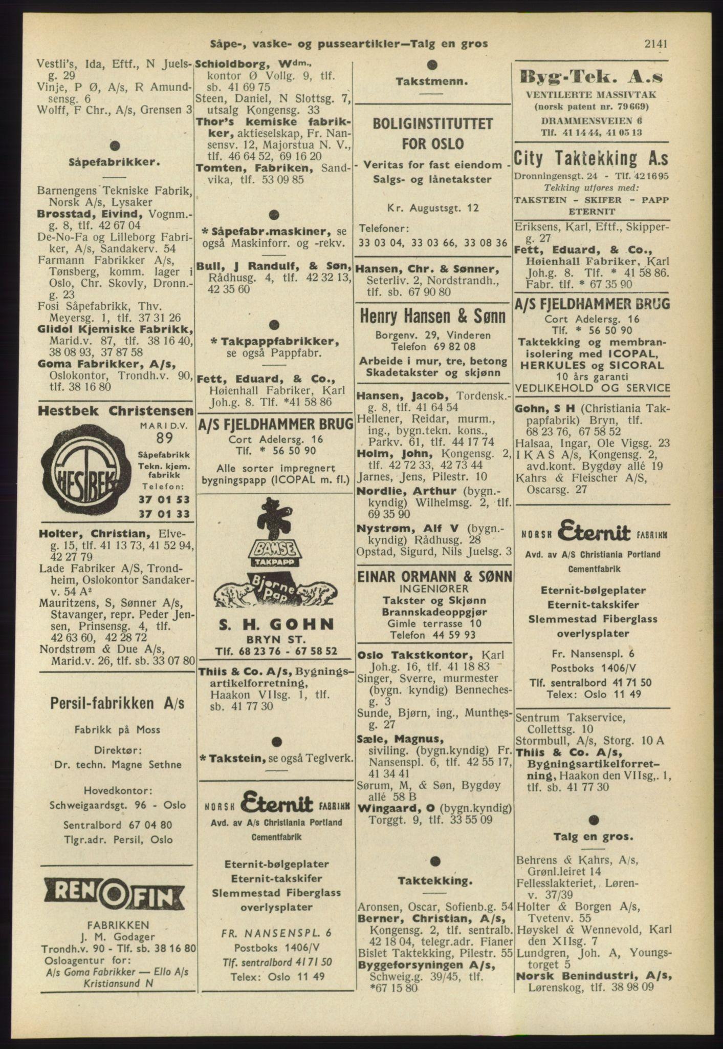 PUBL, Kristiania/Oslo adressebok, 1960-1961, s. 2141