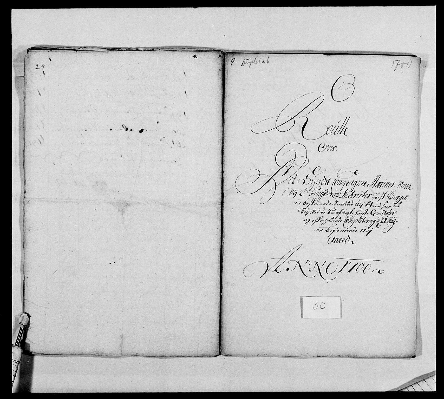 RA, Kommanderende general (KG I) med Det norske krigsdirektorium, E/Ea/L0473: Marineregimentet, 1664-1700, s. 311