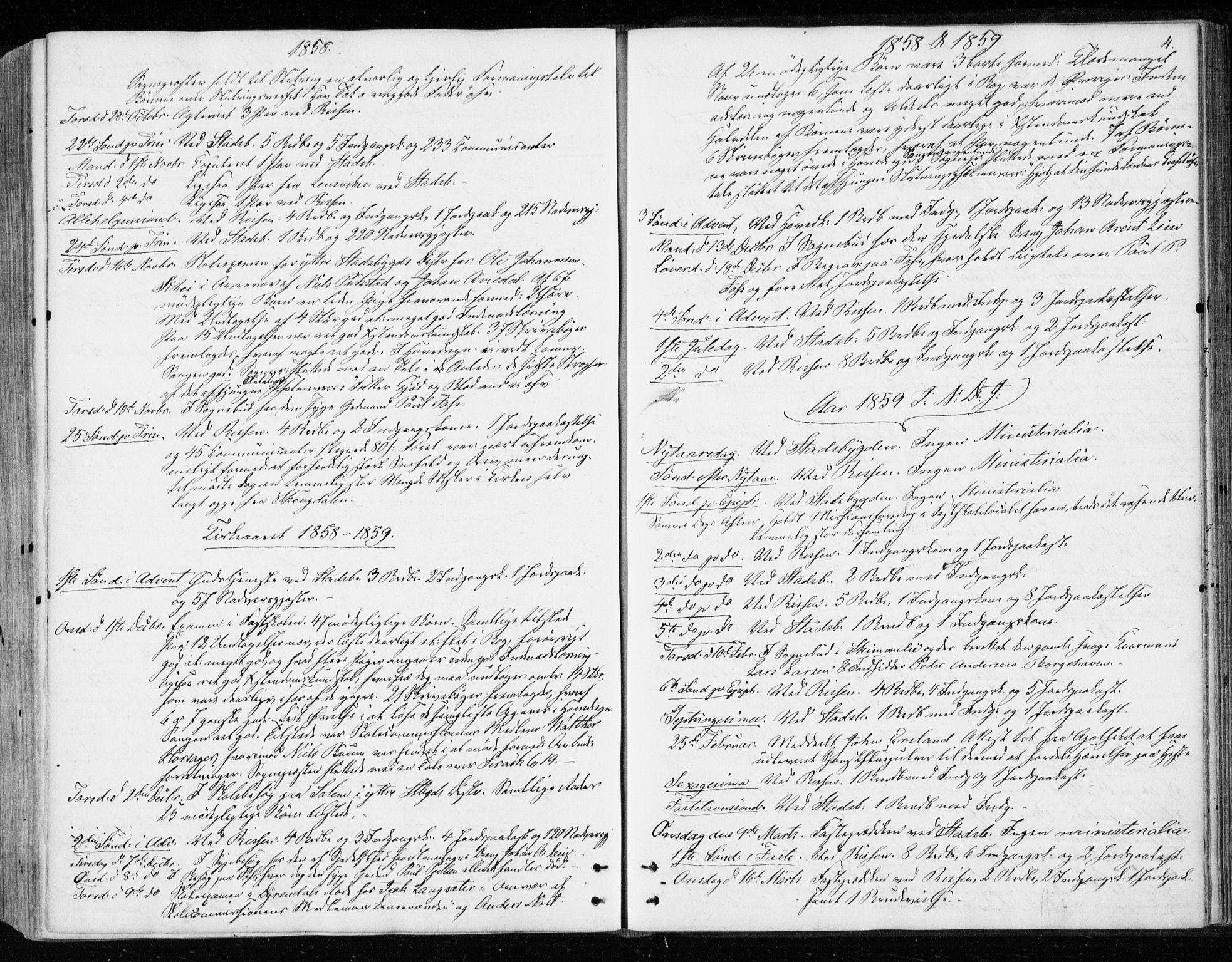 SAT, Ministerialprotokoller, klokkerbøker og fødselsregistre - Sør-Trøndelag, 646/L0612: Ministerialbok nr. 646A10, 1858-1869, s. 4