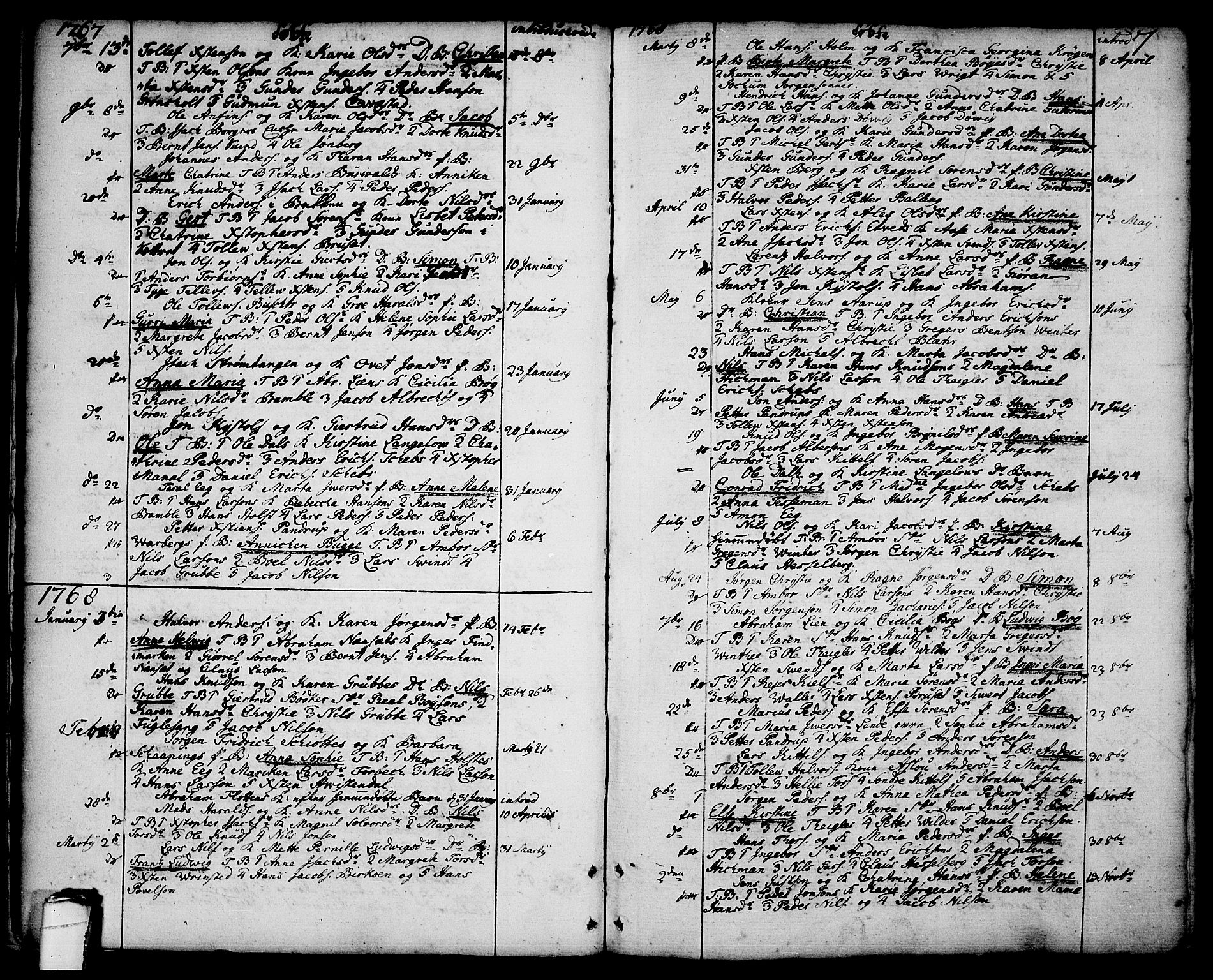 SAKO, Brevik kirkebøker, F/Fa/L0003: Ministerialbok nr. 3, 1764-1814, s. 7