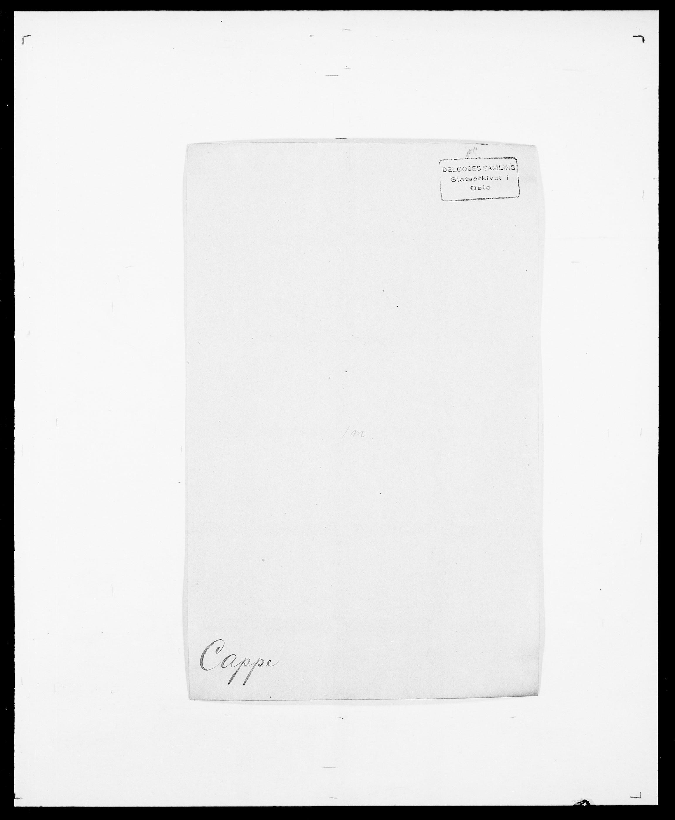 SAO, Delgobe, Charles Antoine - samling, D/Da/L0008: Capjon - Dagenbolt, s. 7