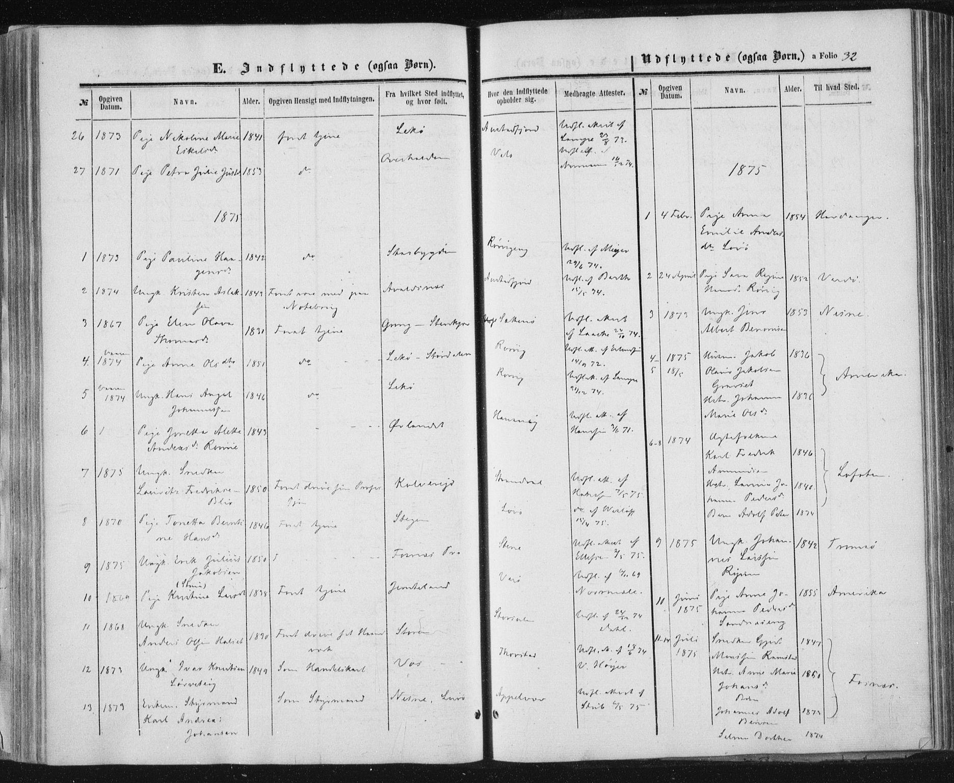 SAT, Ministerialprotokoller, klokkerbøker og fødselsregistre - Nord-Trøndelag, 784/L0670: Ministerialbok nr. 784A05, 1860-1876, s. 32