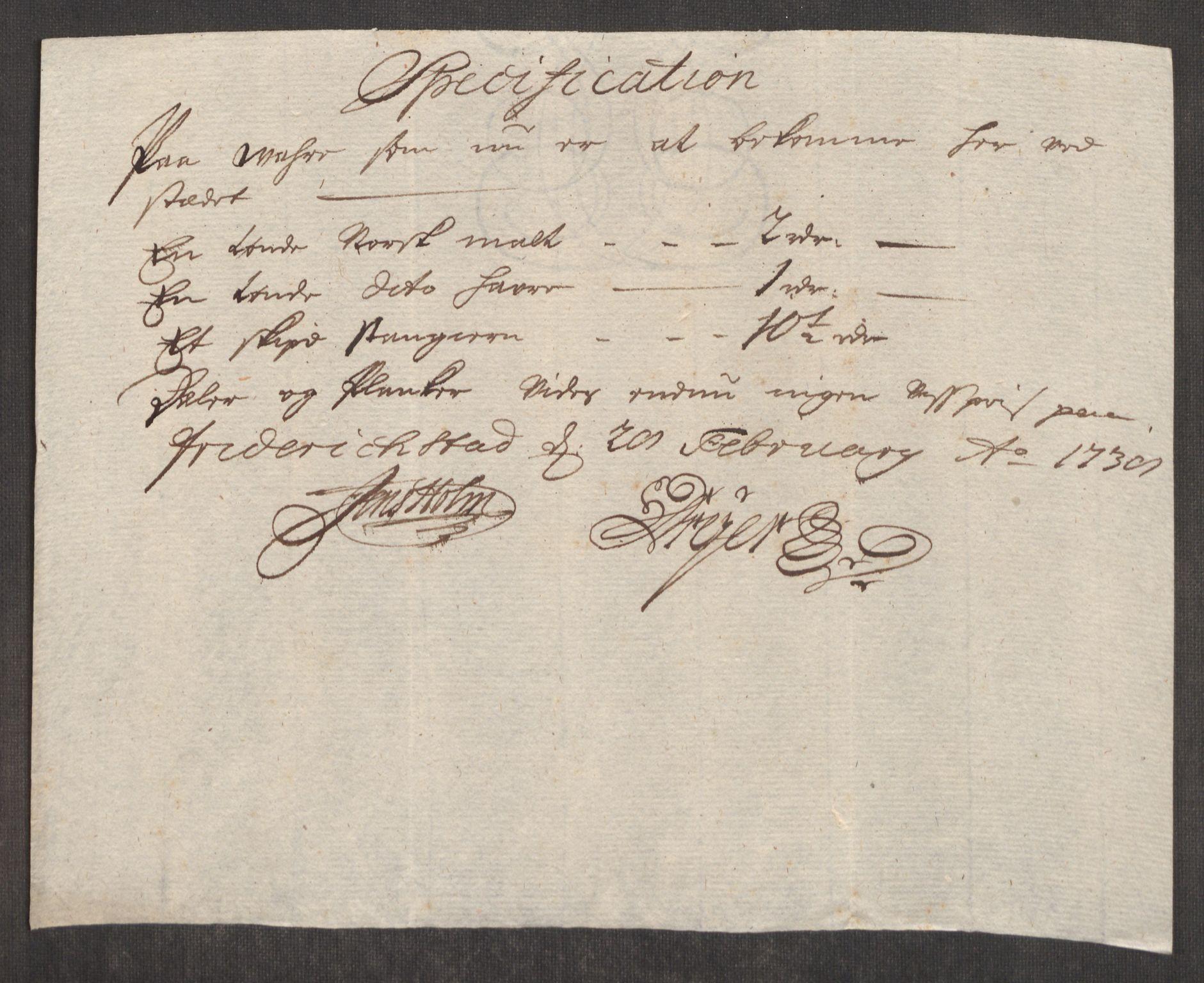 RA, Rentekammeret inntil 1814, Realistisk ordnet avdeling, Oe/L0001: [Ø1]: Priskuranter, 1712-1739, s. 688