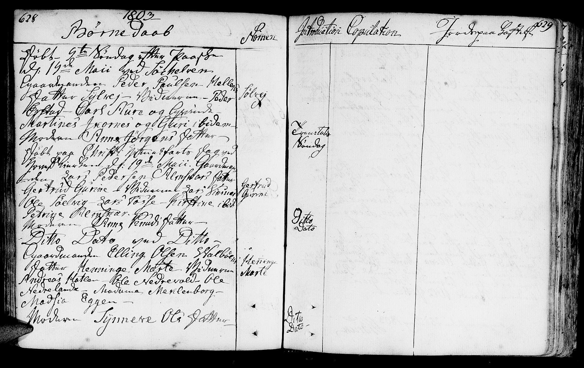 SAT, Ministerialprotokoller, klokkerbøker og fødselsregistre - Møre og Romsdal, 522/L0308: Ministerialbok nr. 522A03, 1773-1809, s. 628-629