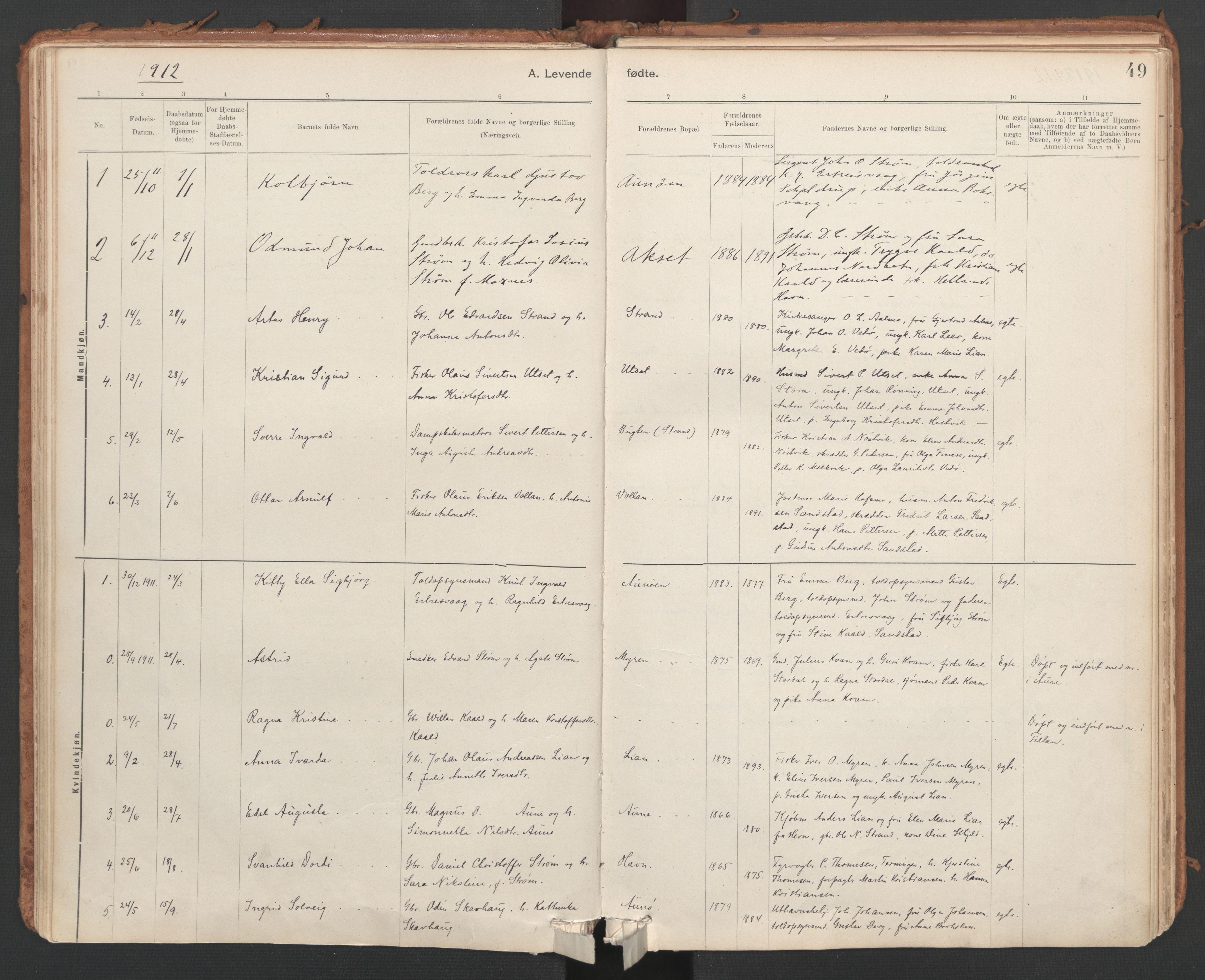 SAT, Ministerialprotokoller, klokkerbøker og fødselsregistre - Sør-Trøndelag, 639/L0572: Ministerialbok nr. 639A01, 1890-1920, s. 49