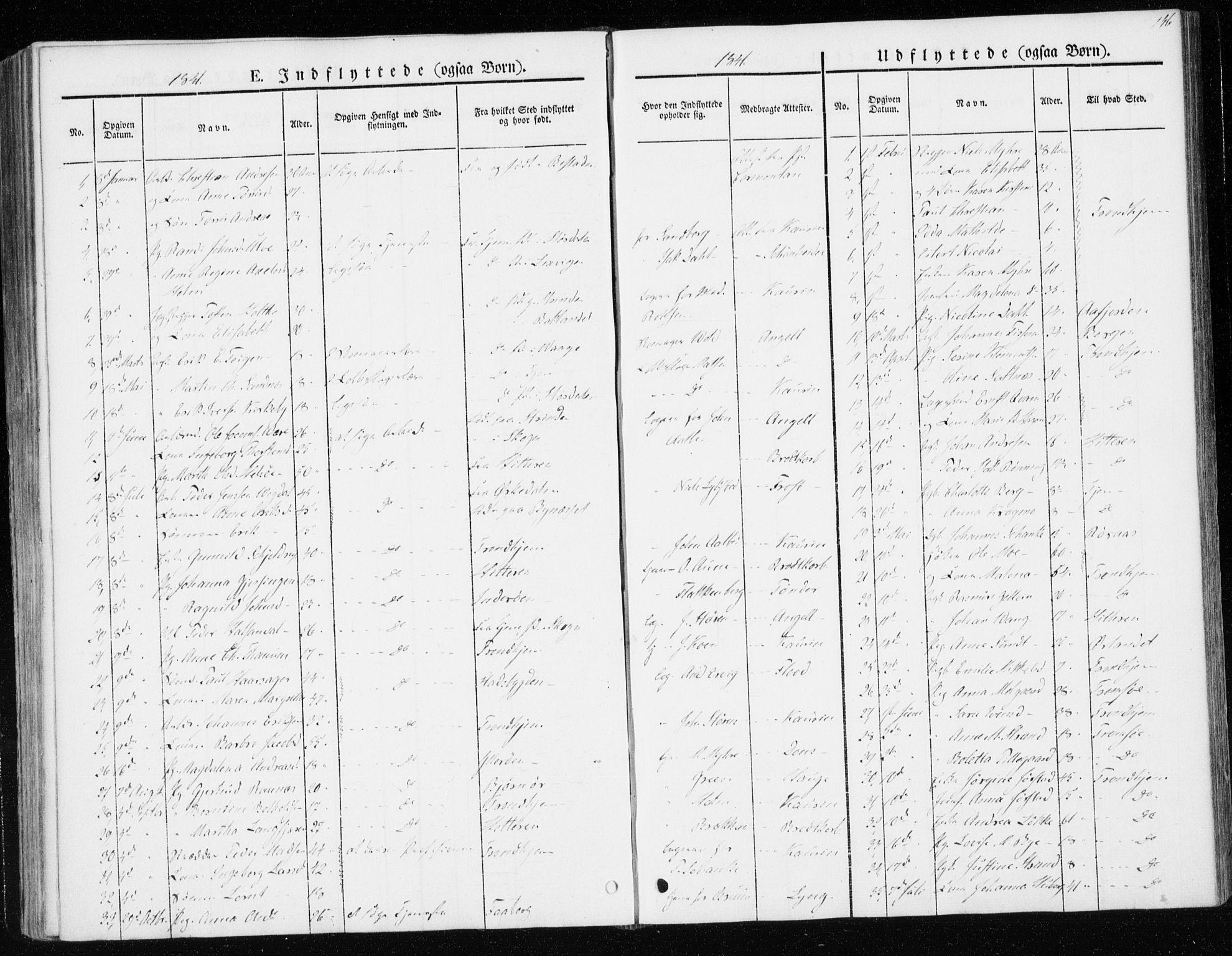SAT, Ministerialprotokoller, klokkerbøker og fødselsregistre - Sør-Trøndelag, 604/L0183: Ministerialbok nr. 604A04, 1841-1850, s. 146