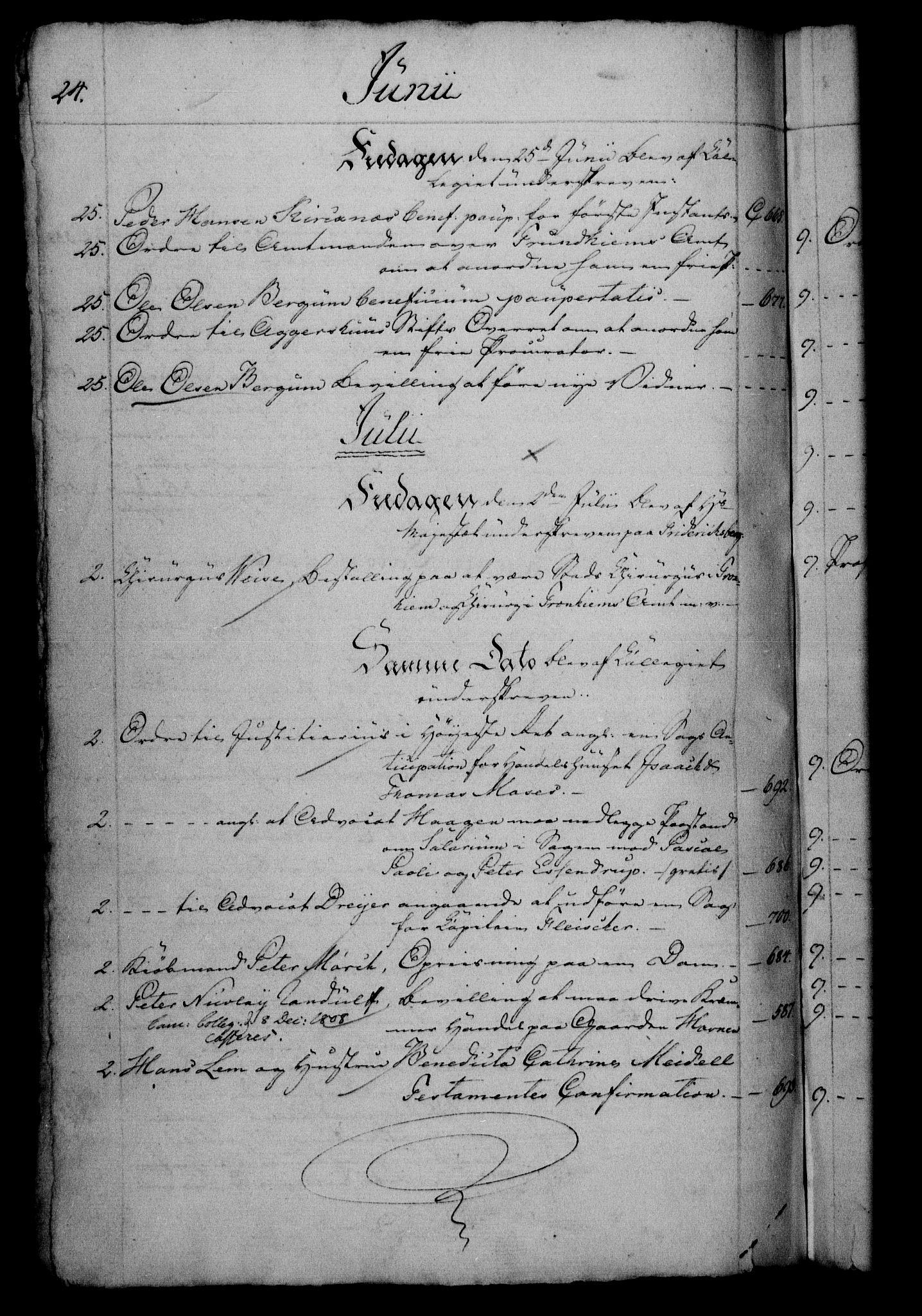 RA, Danske Kanselli 1800-1814, H/Hf/Hfb/Hfbc/L0003: Underskrivelsesbok m. register, 1802, s. 24