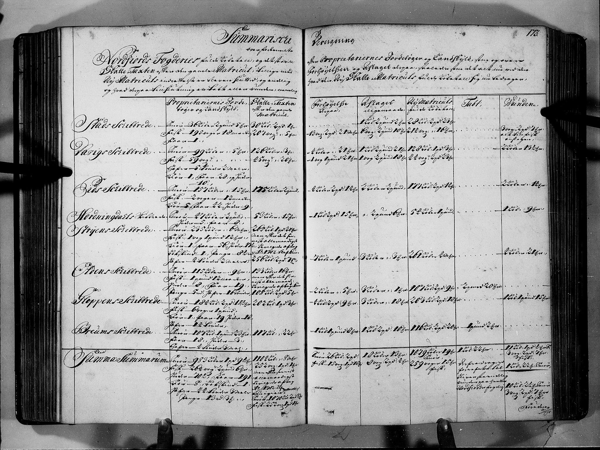 RA, Rentekammeret inntil 1814, Realistisk ordnet avdeling, N/Nb/Nbf/L0146: Sunnfjord og Nordfjord eksaminasjonsprotokoll, 1723, s. 172b-173a