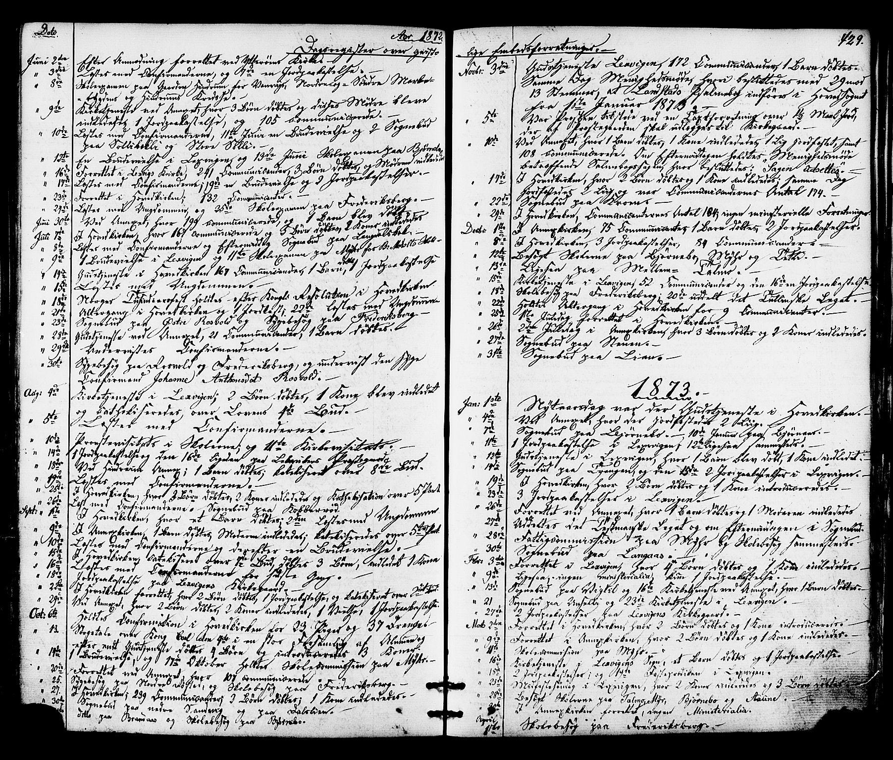 SAT, Ministerialprotokoller, klokkerbøker og fødselsregistre - Nord-Trøndelag, 701/L0009: Ministerialbok nr. 701A09 /1, 1864-1882, s. 429