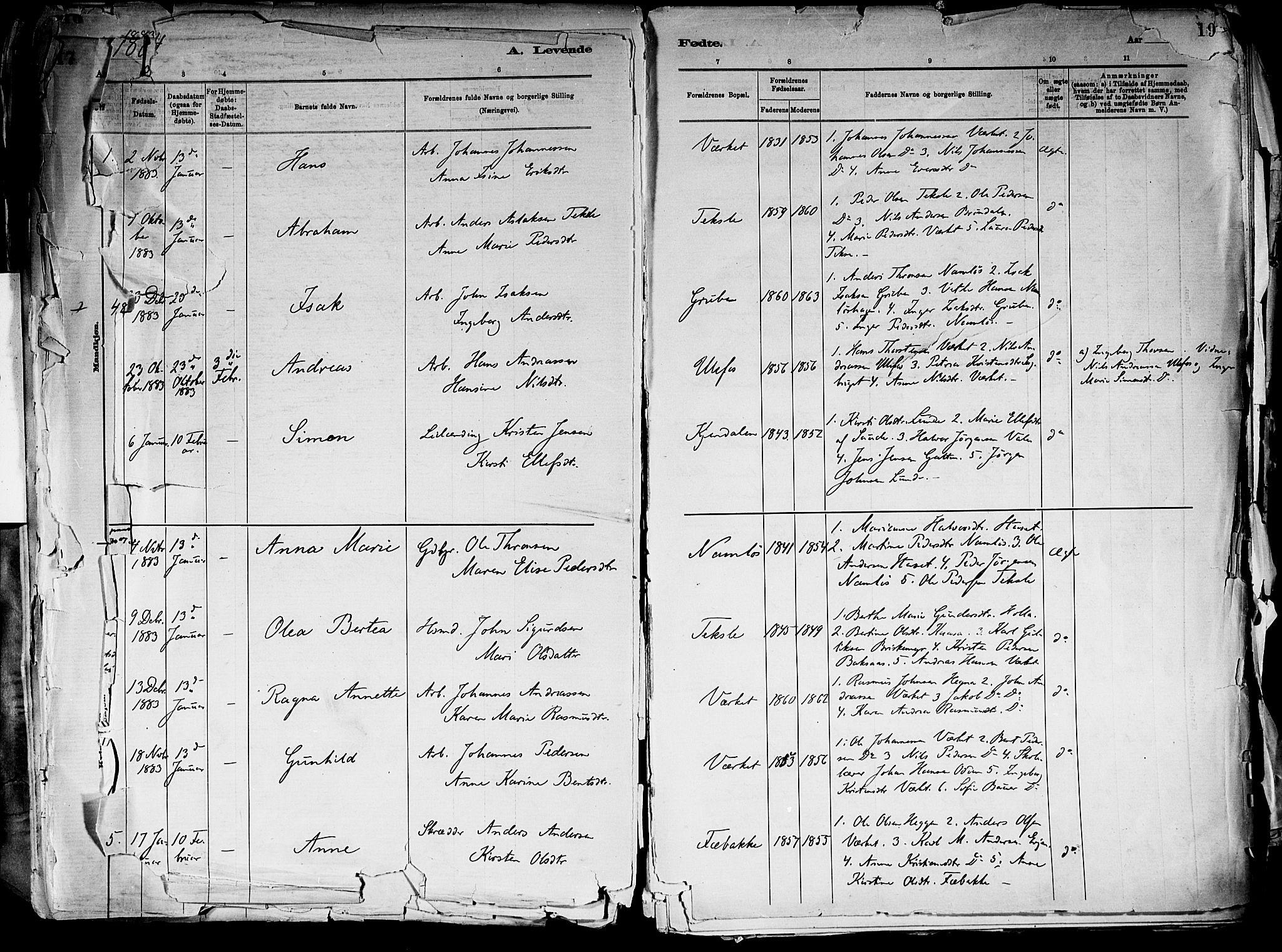 SAKO, Holla kirkebøker, F/Fa/L0008: Ministerialbok nr. 8, 1882-1897, s. 18