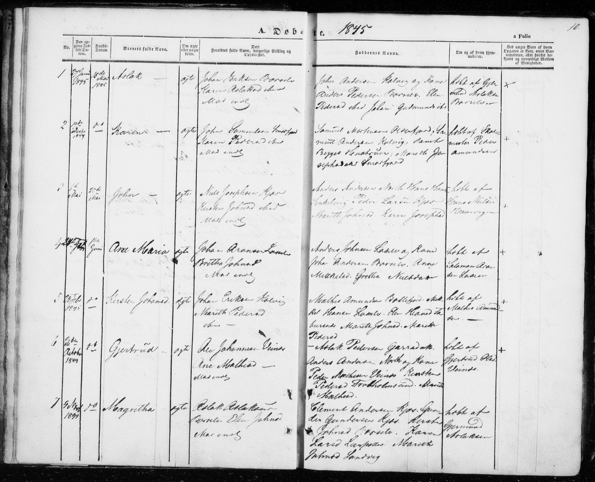 SATØ, Kistrand/Porsanger sokneprestembete, H/Ha/L0004.kirke: Ministerialbok nr. 4, 1843-1860, s. 10