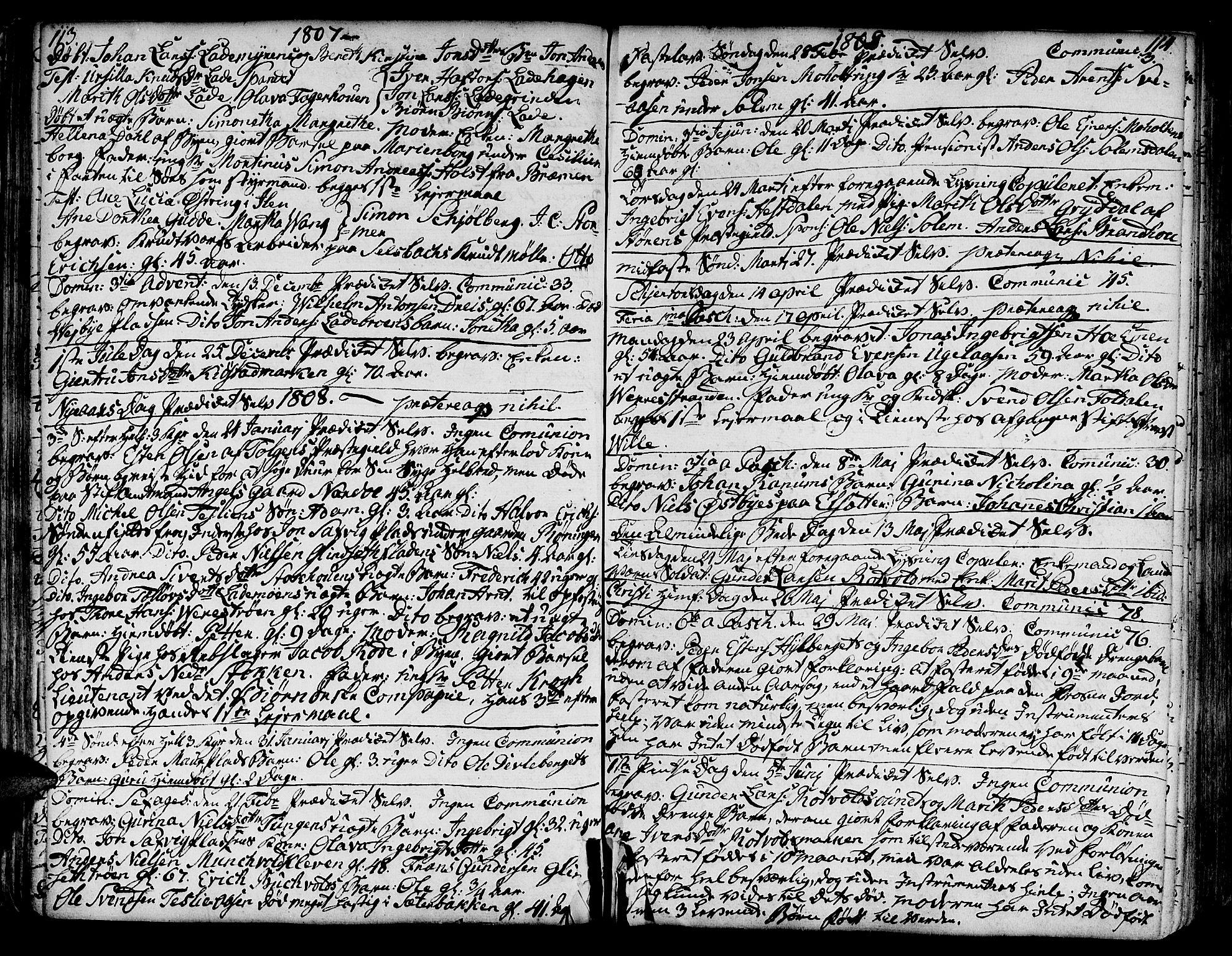 SAT, Ministerialprotokoller, klokkerbøker og fødselsregistre - Sør-Trøndelag, 606/L0280: Ministerialbok nr. 606A02 /1, 1781-1817, s. 113-114