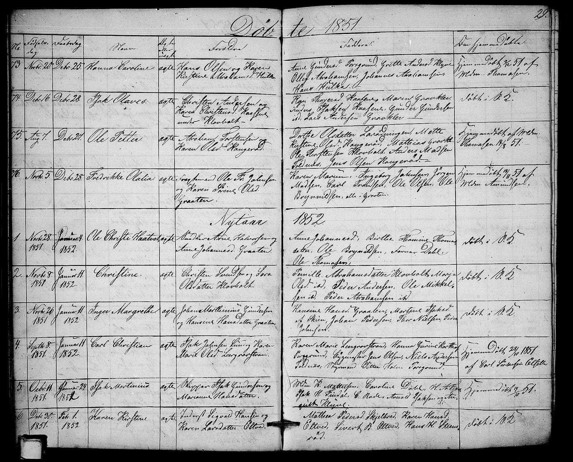 SAKO, Solum kirkebøker, G/Ga/L0003: Klokkerbok nr. I 3, 1848-1859, s. 29