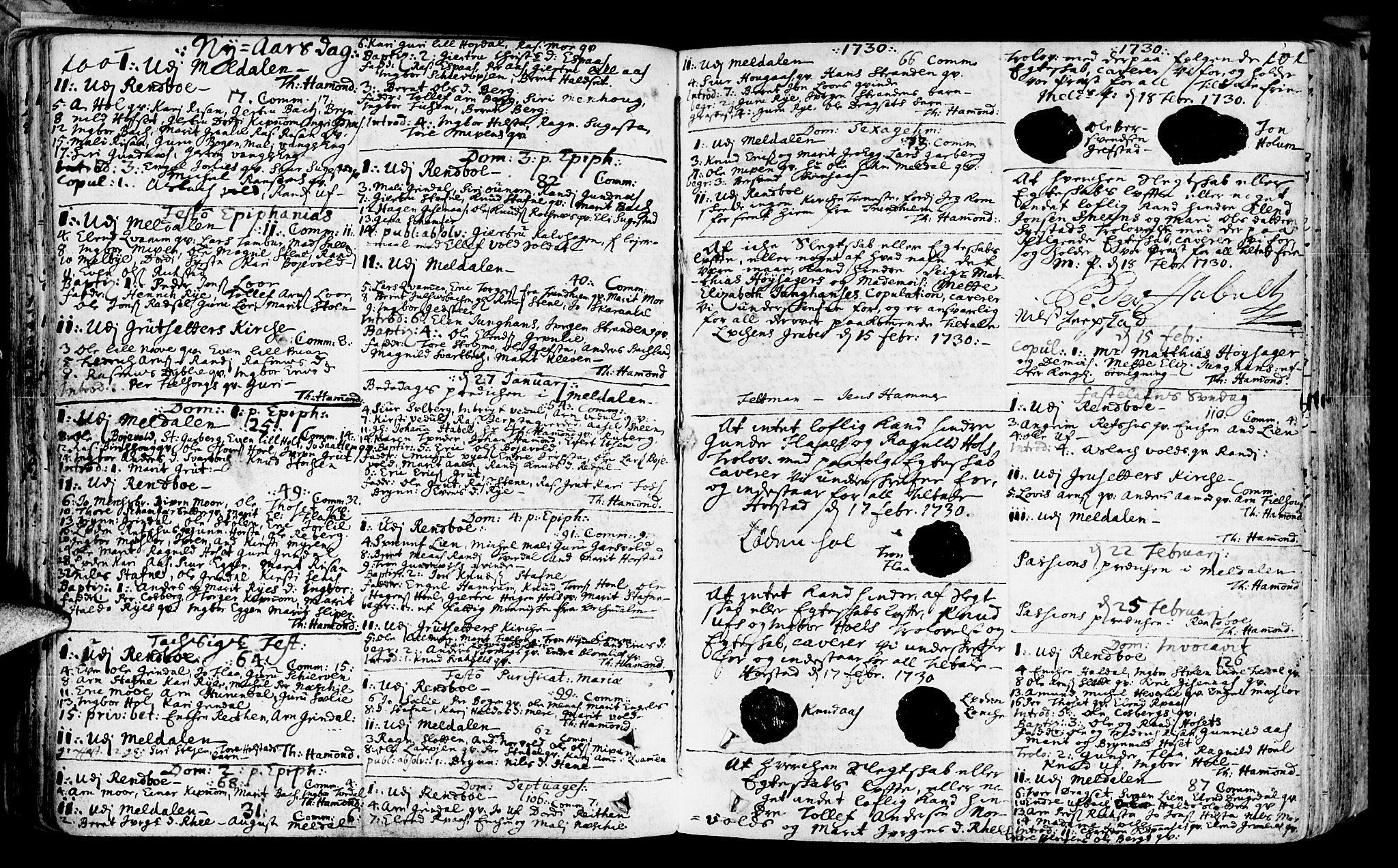 SAT, Ministerialprotokoller, klokkerbøker og fødselsregistre - Sør-Trøndelag, 672/L0850: Ministerialbok nr. 672A03, 1725-1751, s. 100-101