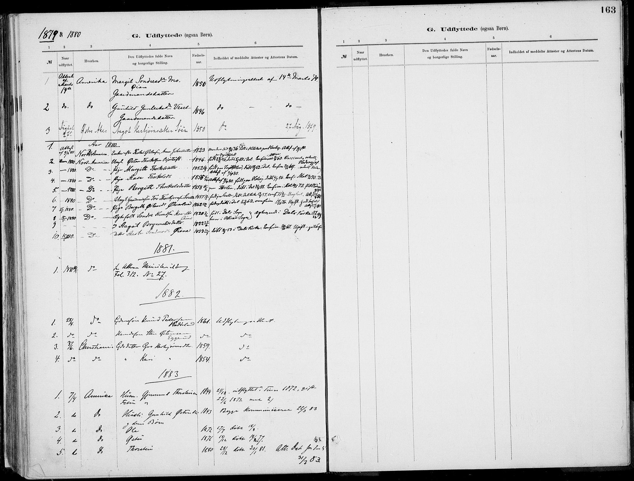 SAKO, Rjukan kirkebøker, F/Fa/L0001: Ministerialbok nr. 1, 1878-1912, s. 163