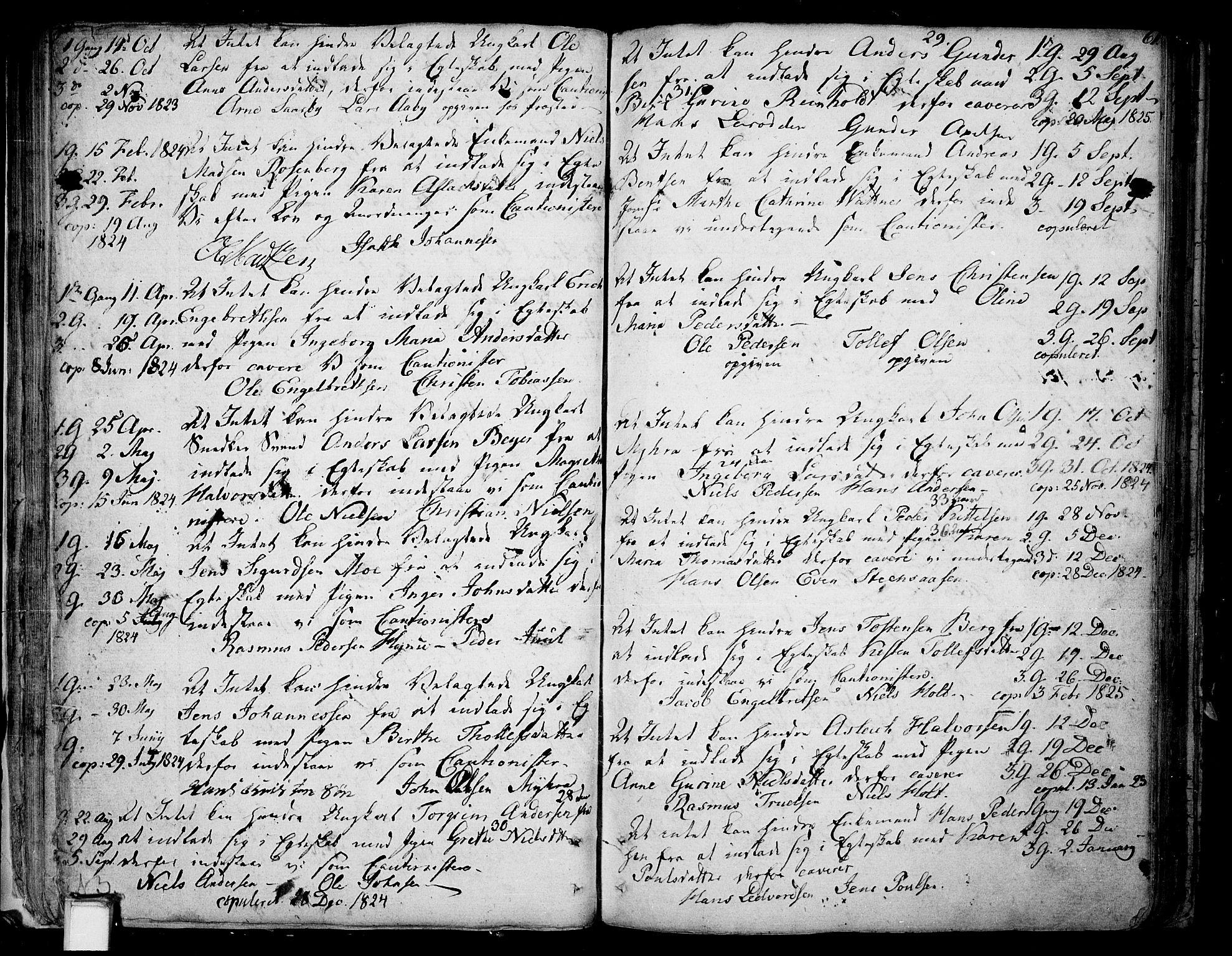 SAKO, Skien kirkebøker, F/Fa/L0004: Ministerialbok nr. 4, 1792-1814, s. 60-61