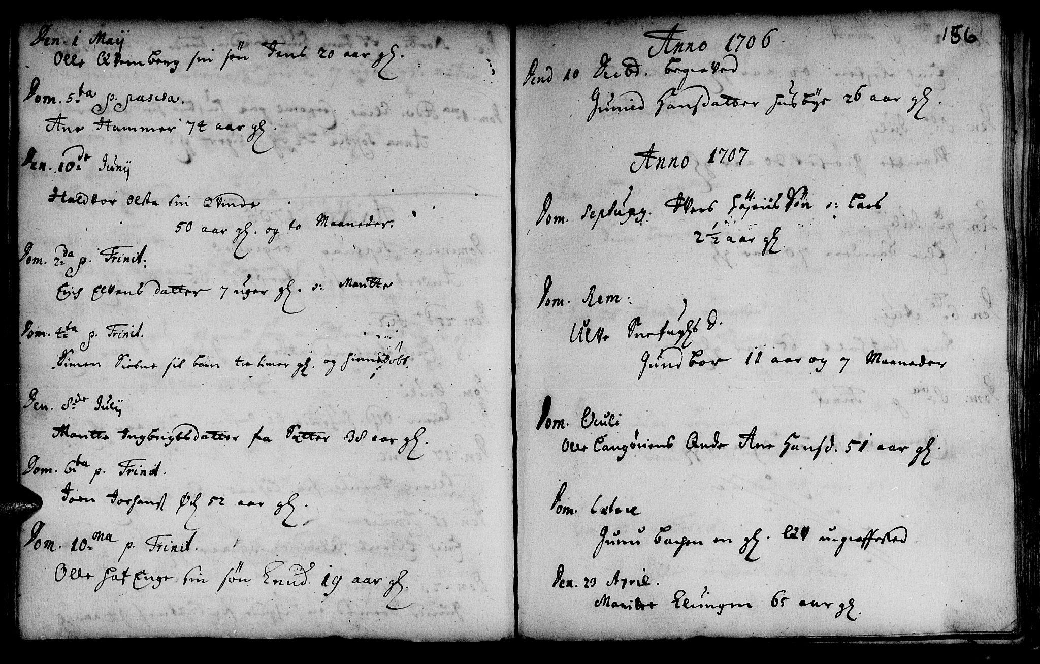 SAT, Ministerialprotokoller, klokkerbøker og fødselsregistre - Sør-Trøndelag, 666/L0783: Ministerialbok nr. 666A01, 1702-1753, s. 156