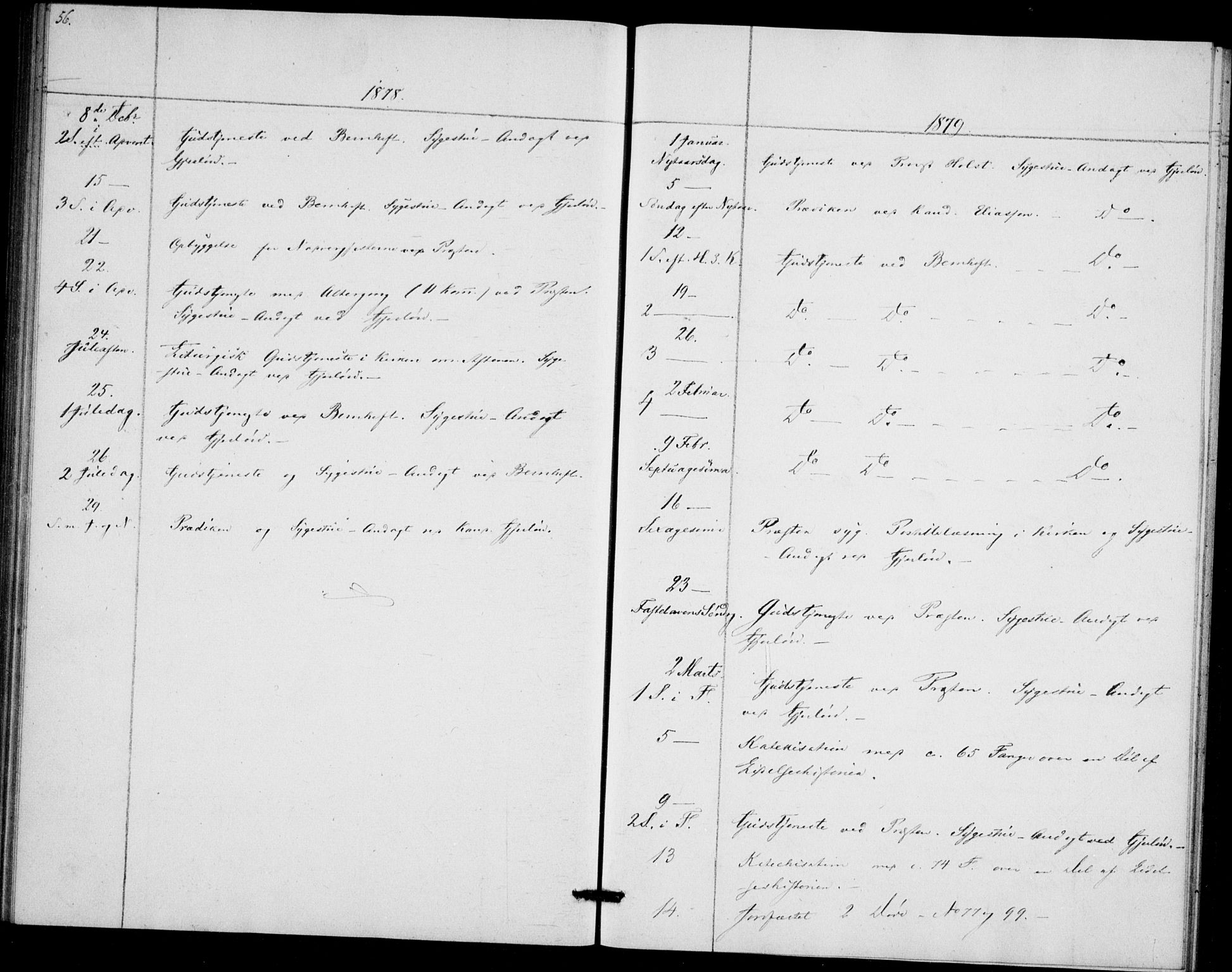 SAO, Akershus festnings slaveri Kirkebøker, F/Fa/L0002: Ministerialbok nr. 2, 1852-1883, s. 56