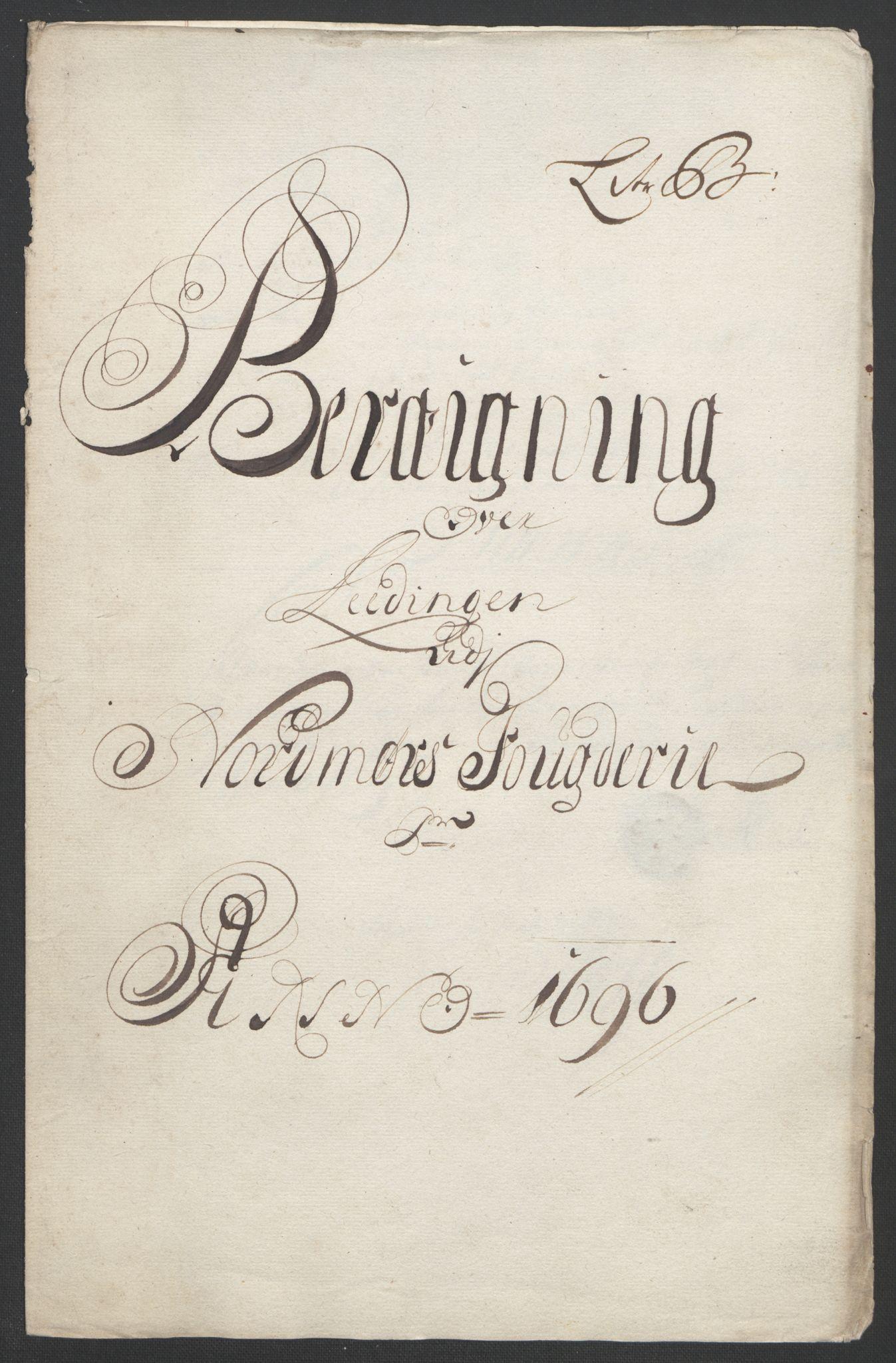 RA, Rentekammeret inntil 1814, Reviderte regnskaper, Fogderegnskap, R56/L3736: Fogderegnskap Nordmøre, 1694-1696, s. 399