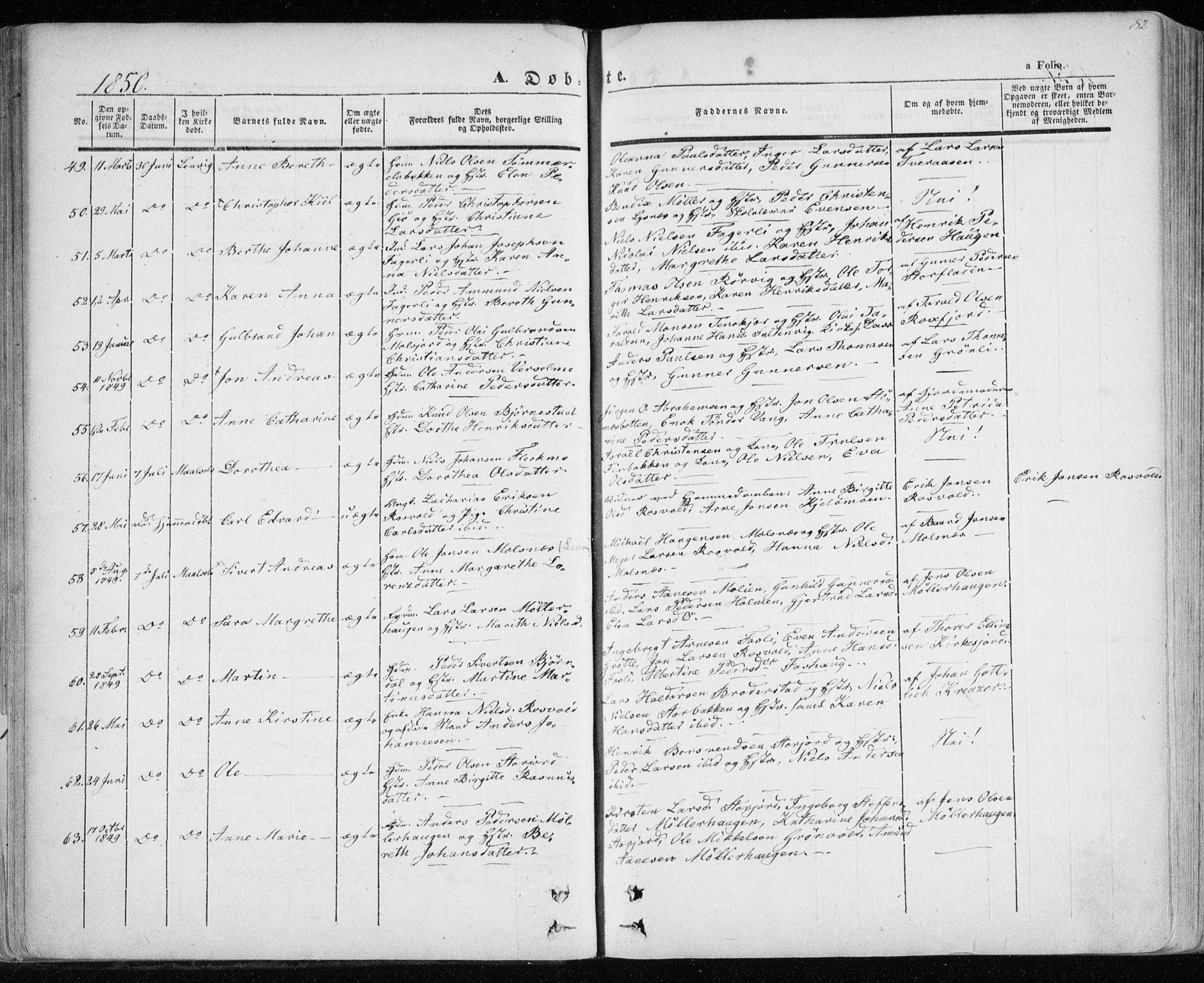 SATØ, Lenvik sokneprestembete, H/Ha: Ministerialbok nr. 6, 1845-1854, s. 82