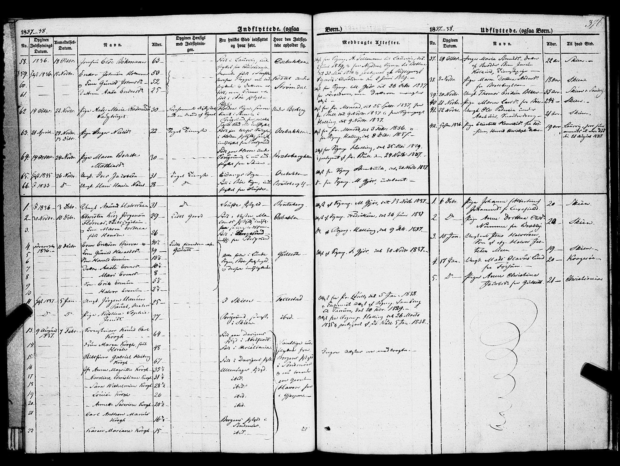 SAKO, Gjerpen kirkebøker, F/Fa/L0007b: Ministerialbok nr. 7B, 1834-1857, s. 376