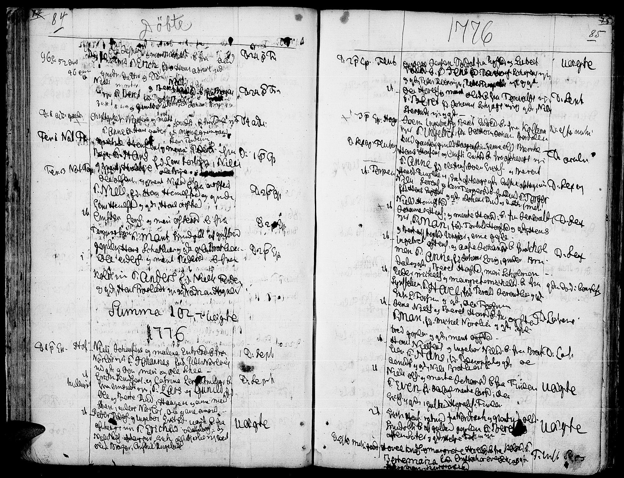 SAH, Land prestekontor, Ministerialbok nr. 5, 1765-1784, s. 84-85