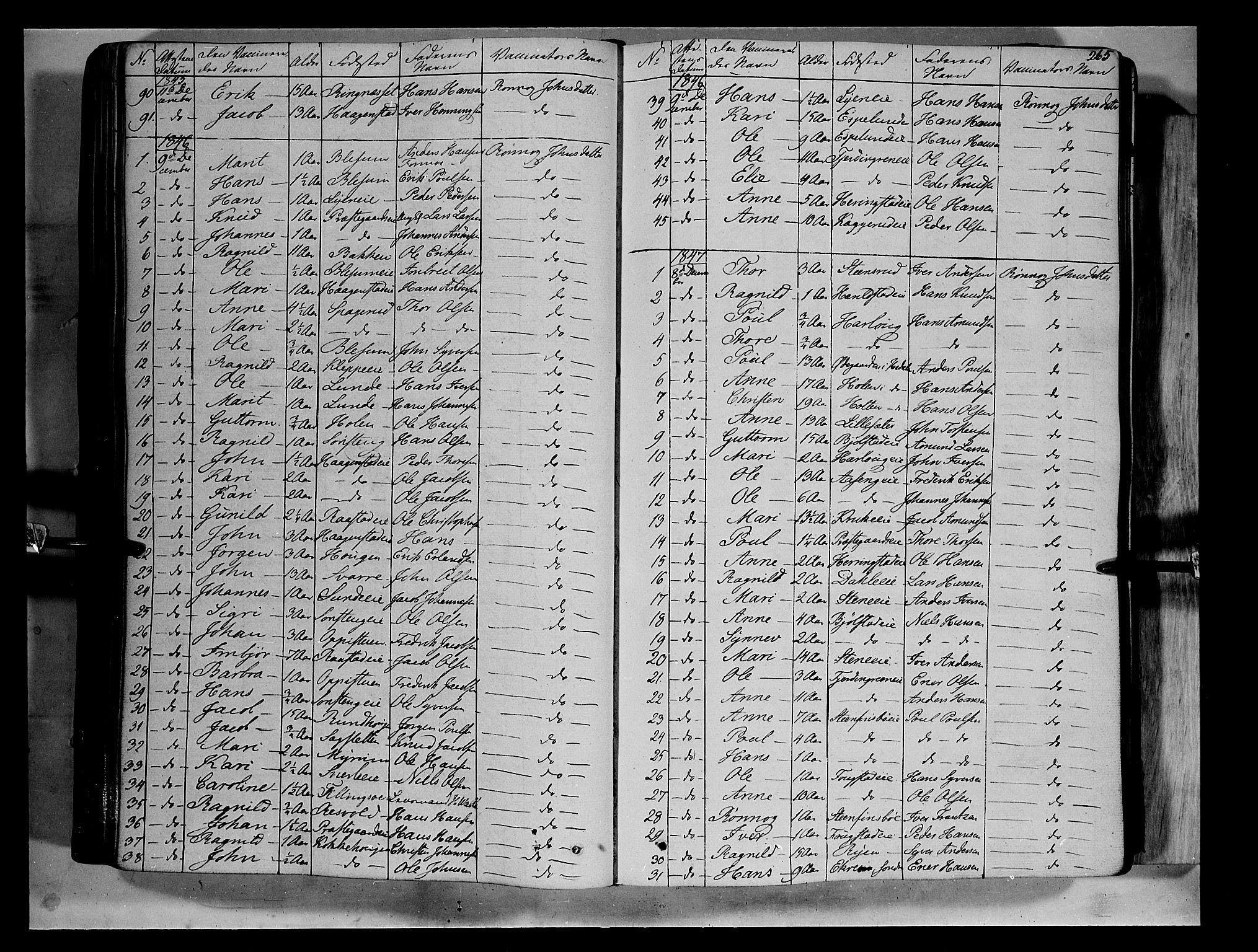 SAH, Vågå prestekontor, Ministerialbok nr. 5 /1, 1842-1856, s. 265