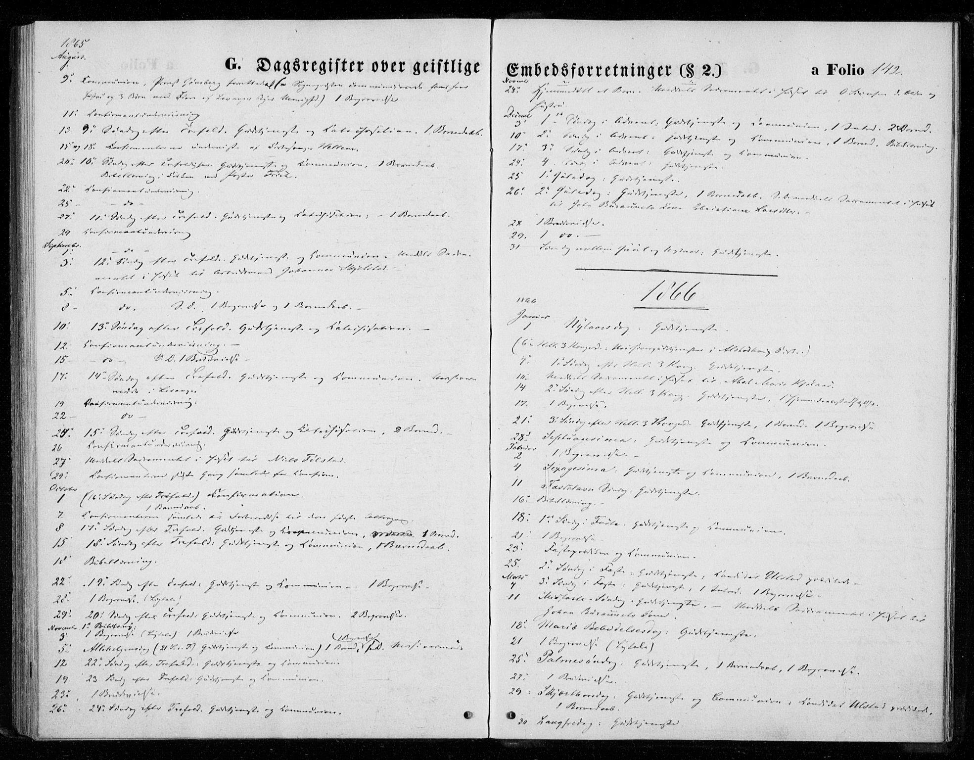 SAT, Ministerialprotokoller, klokkerbøker og fødselsregistre - Nord-Trøndelag, 720/L0186: Ministerialbok nr. 720A03, 1864-1874, s. 142