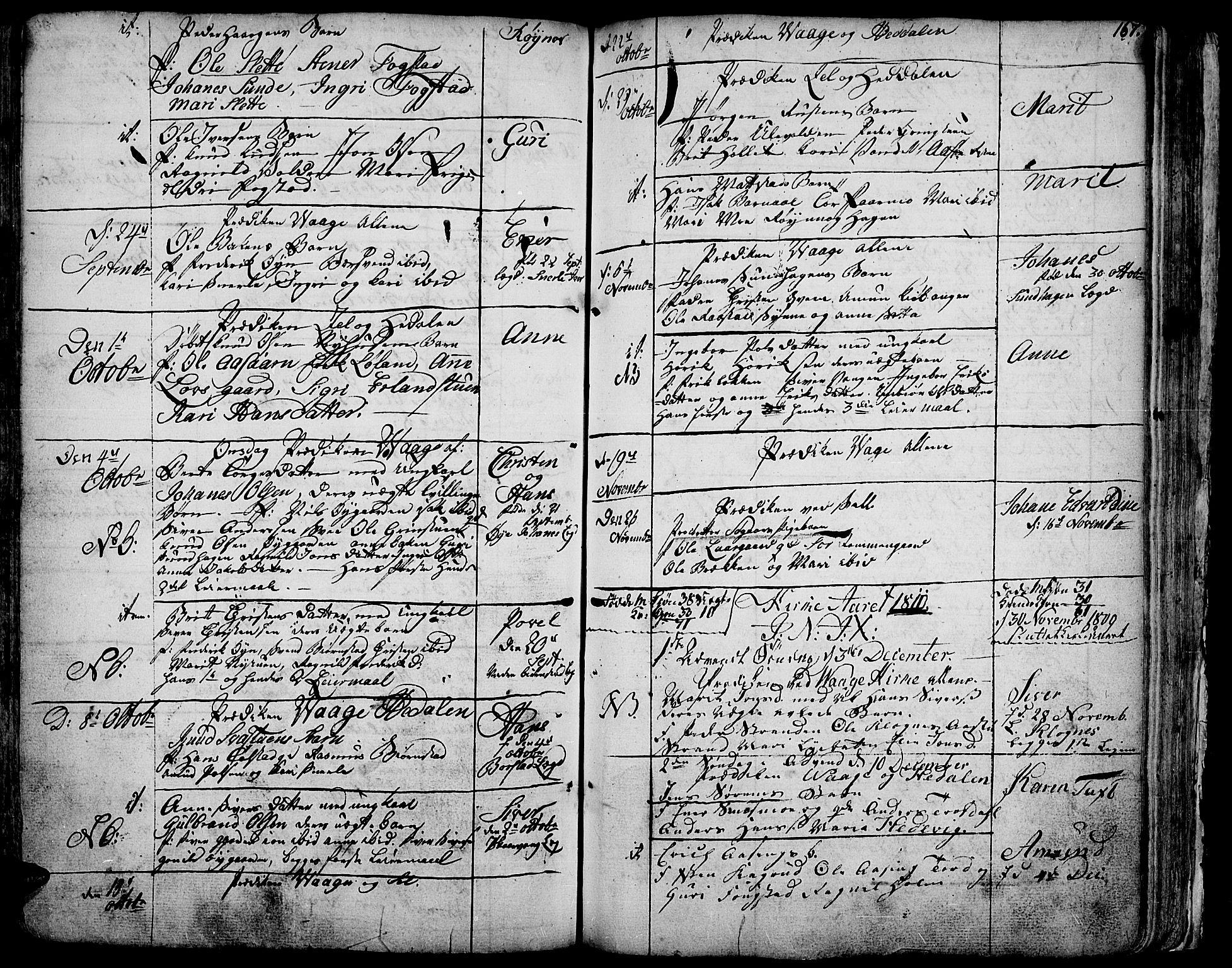 SAH, Vågå prestekontor, Ministerialbok nr. 1, 1739-1810, s. 167