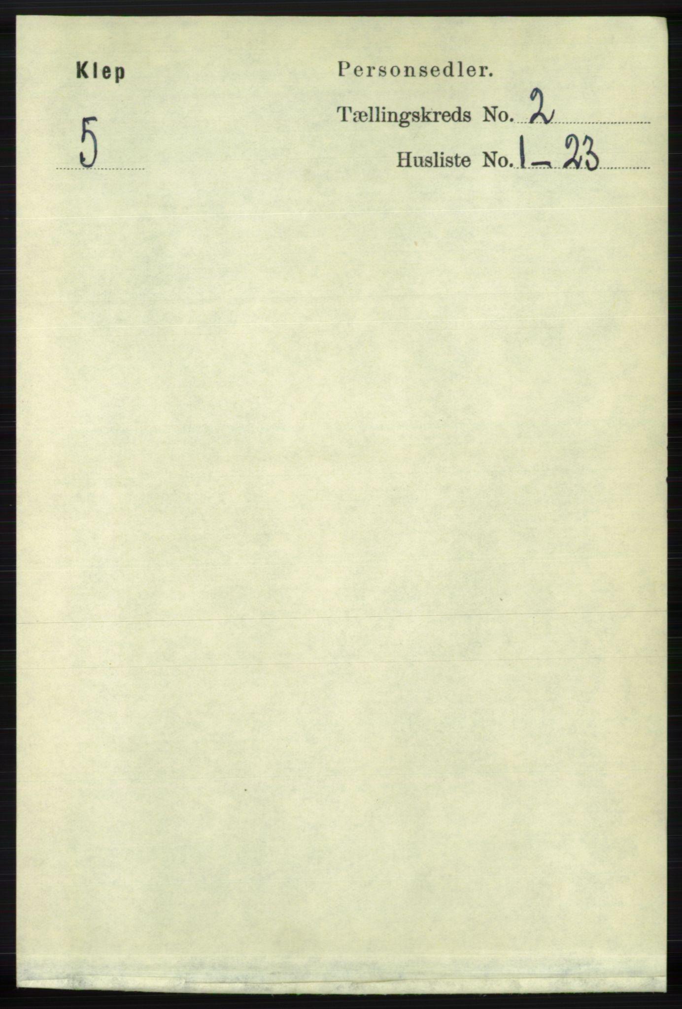 RA, Folketelling 1891 for 1120 Klepp herred, 1891, s. 358
