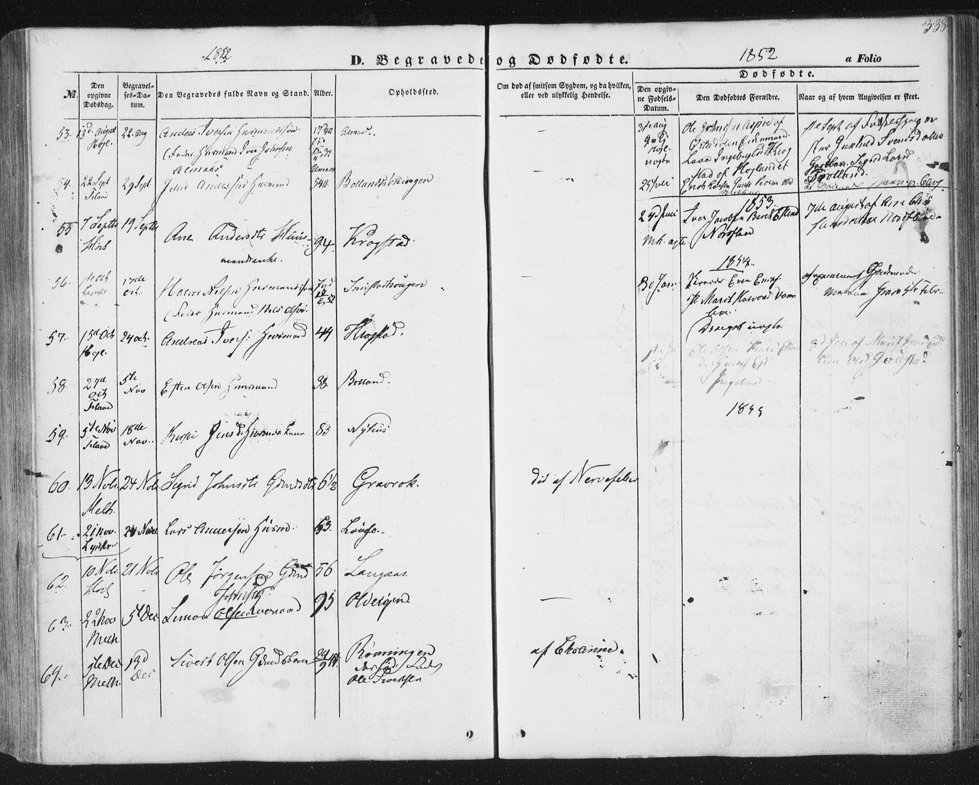 SAT, Ministerialprotokoller, klokkerbøker og fødselsregistre - Sør-Trøndelag, 691/L1076: Ministerialbok nr. 691A08, 1852-1861, s. 338