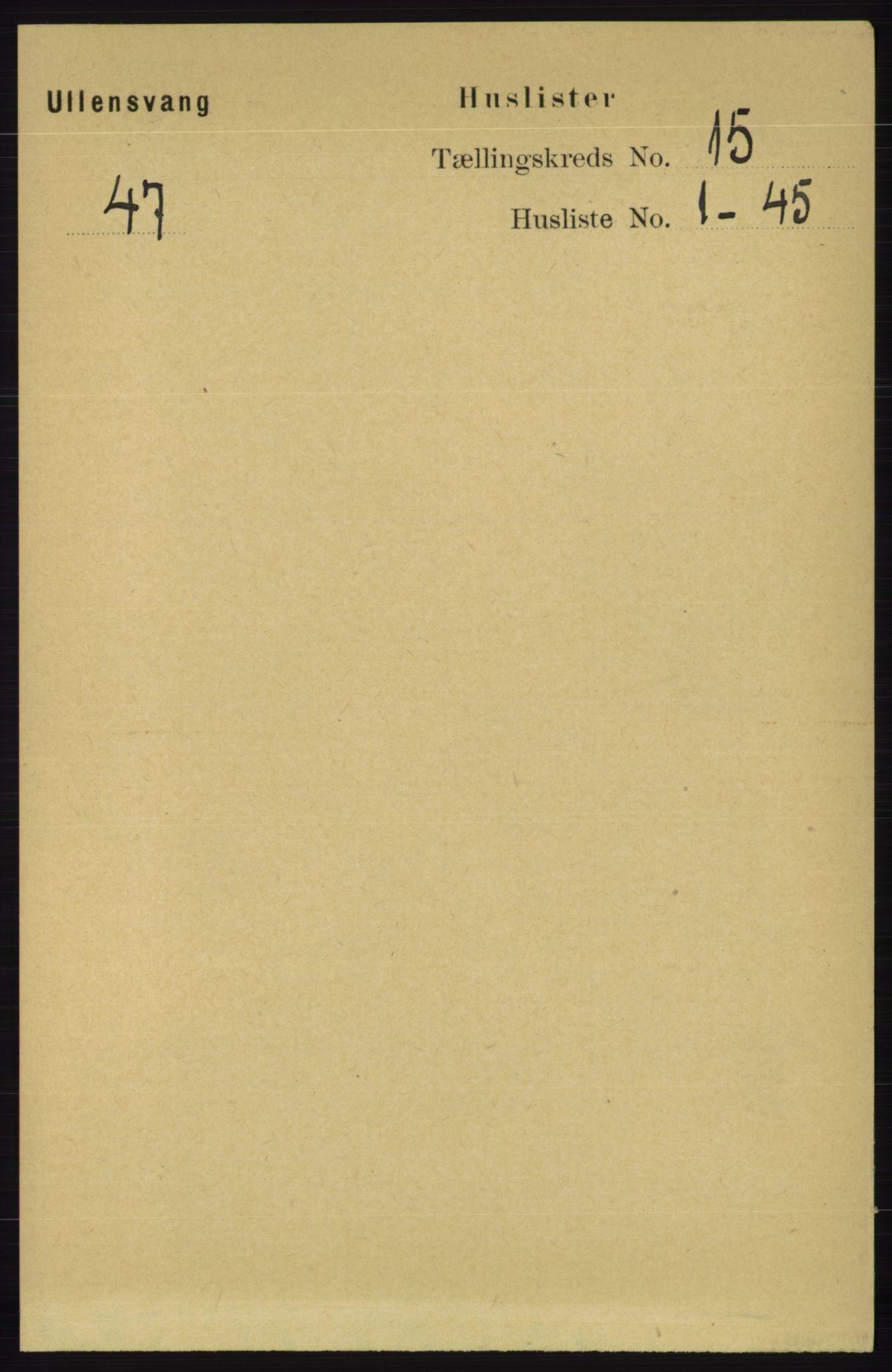 RA, Folketelling 1891 for 1230 Ullensvang herred, 1891, s. 5852