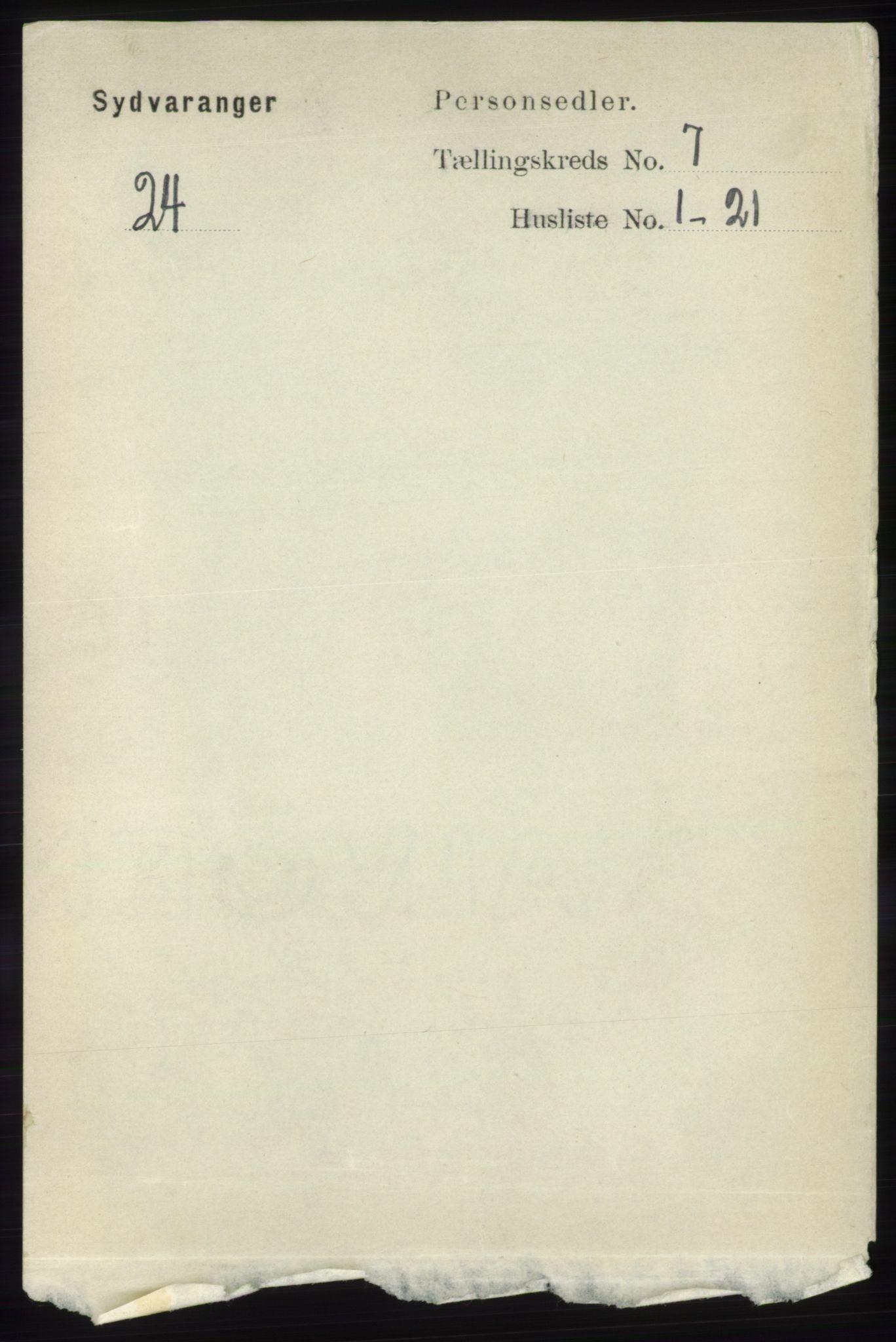 RA, Folketelling 1891 for 2030 Sør-Varanger herred, 1891, s. 2249