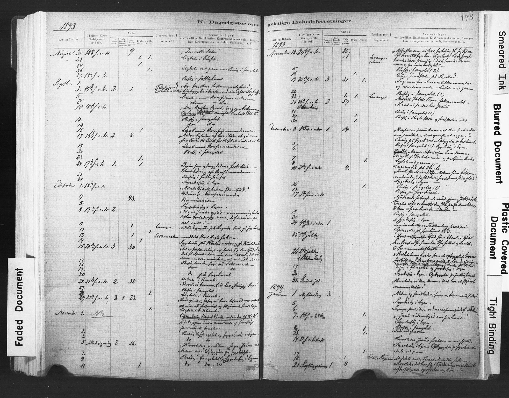 SAT, Ministerialprotokoller, klokkerbøker og fødselsregistre - Nord-Trøndelag, 720/L0189: Ministerialbok nr. 720A05, 1880-1911, s. 178