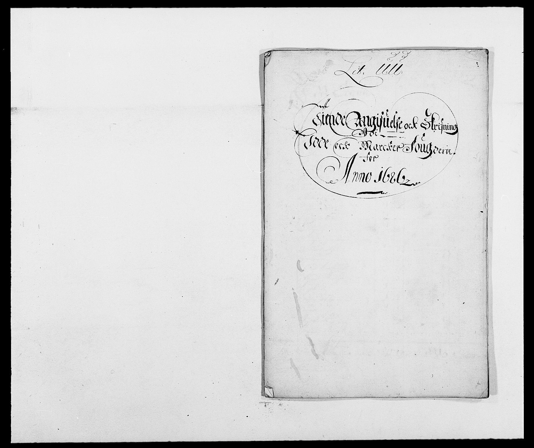 RA, Rentekammeret inntil 1814, Reviderte regnskaper, Fogderegnskap, R01/L0006: Fogderegnskap Idd og Marker, 1685-1686, s. 265