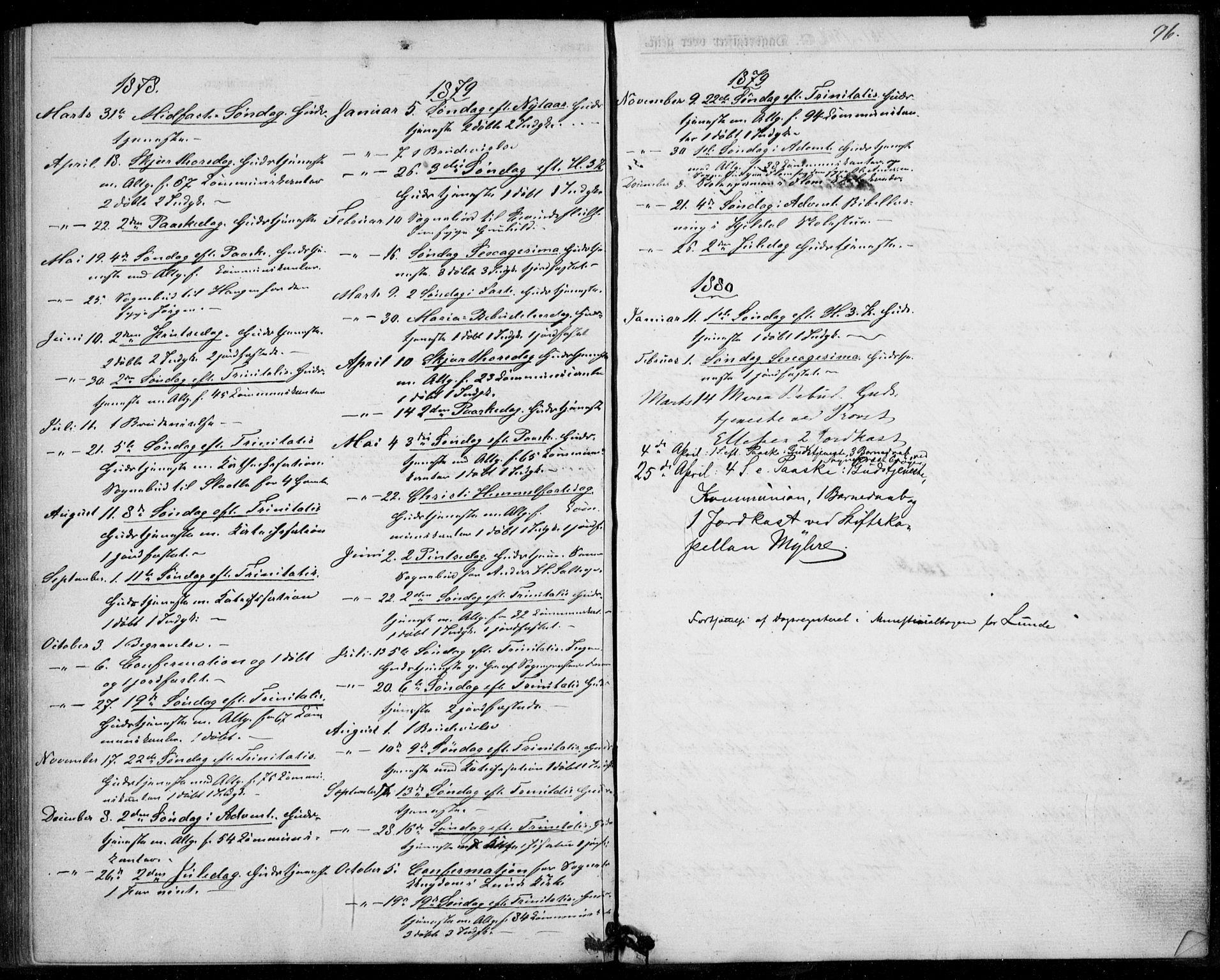 SAKO, Lunde kirkebøker, F/Fb/L0002: Ministerialbok nr. II 2, 1861-1881, s. 96